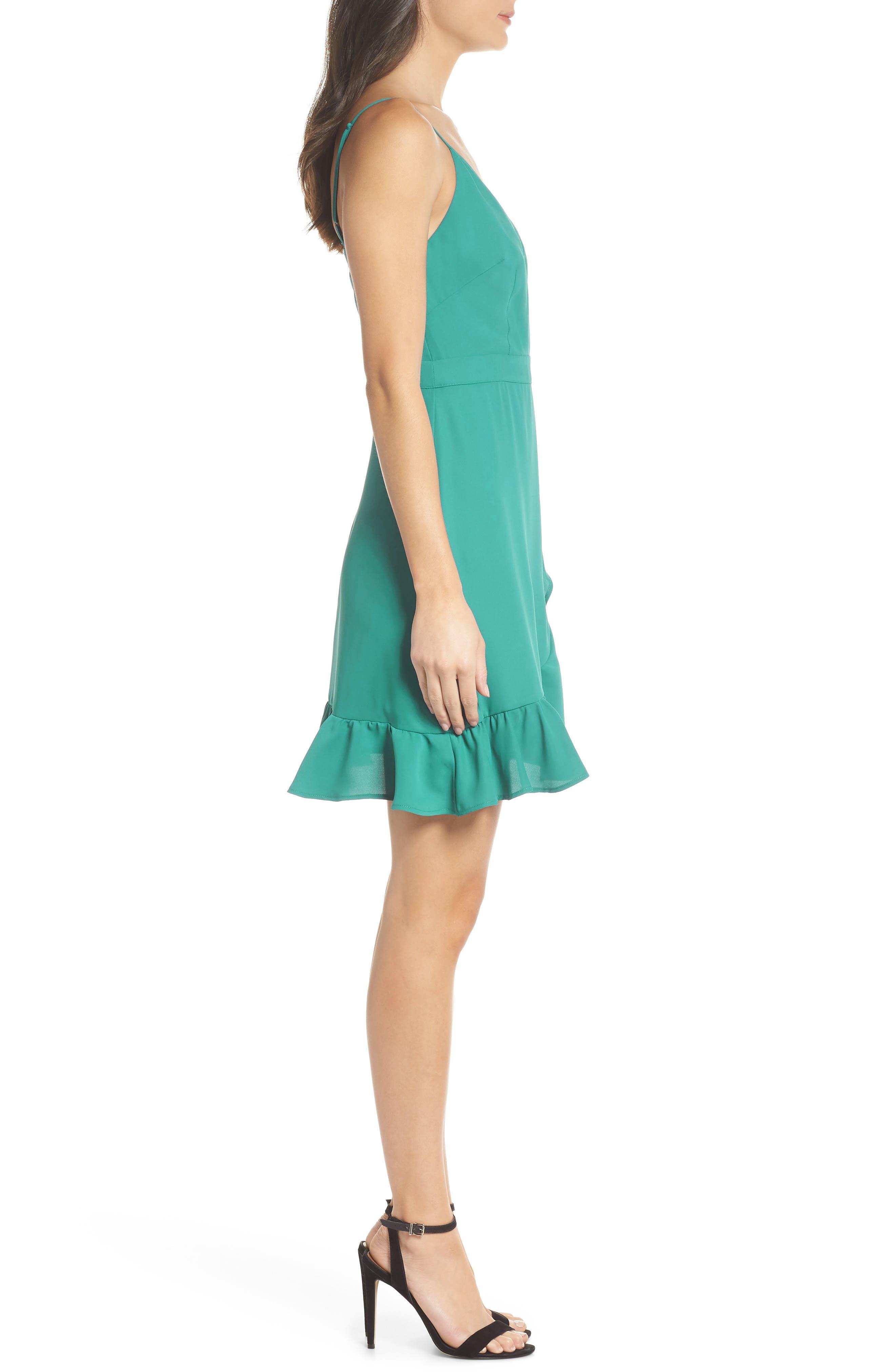 Crepe Skater Dress,                             Alternate thumbnail 3, color,                             454