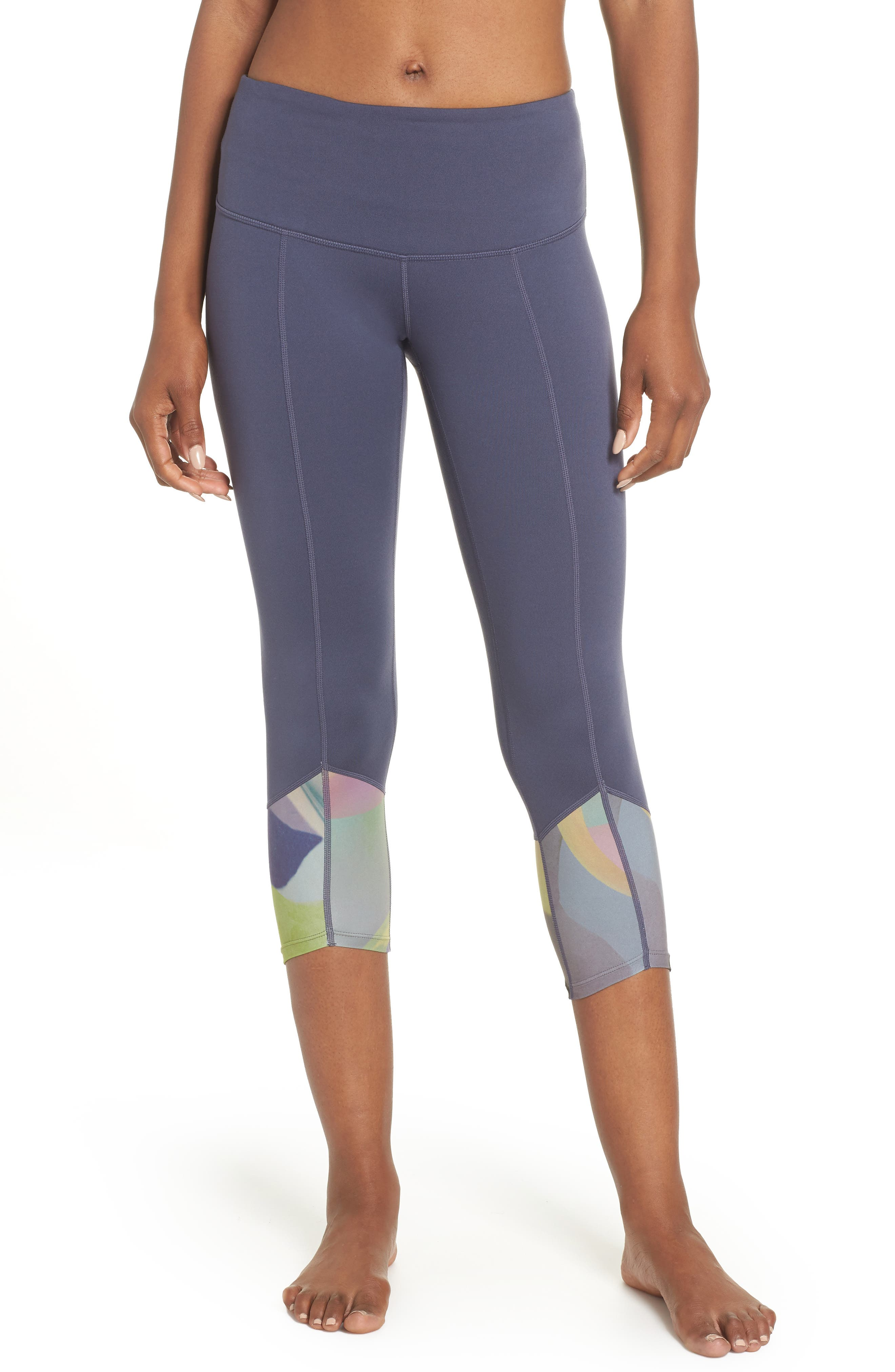 Re-Center Crop Recycled Leggings,                         Main,                         color, GREY SLATE