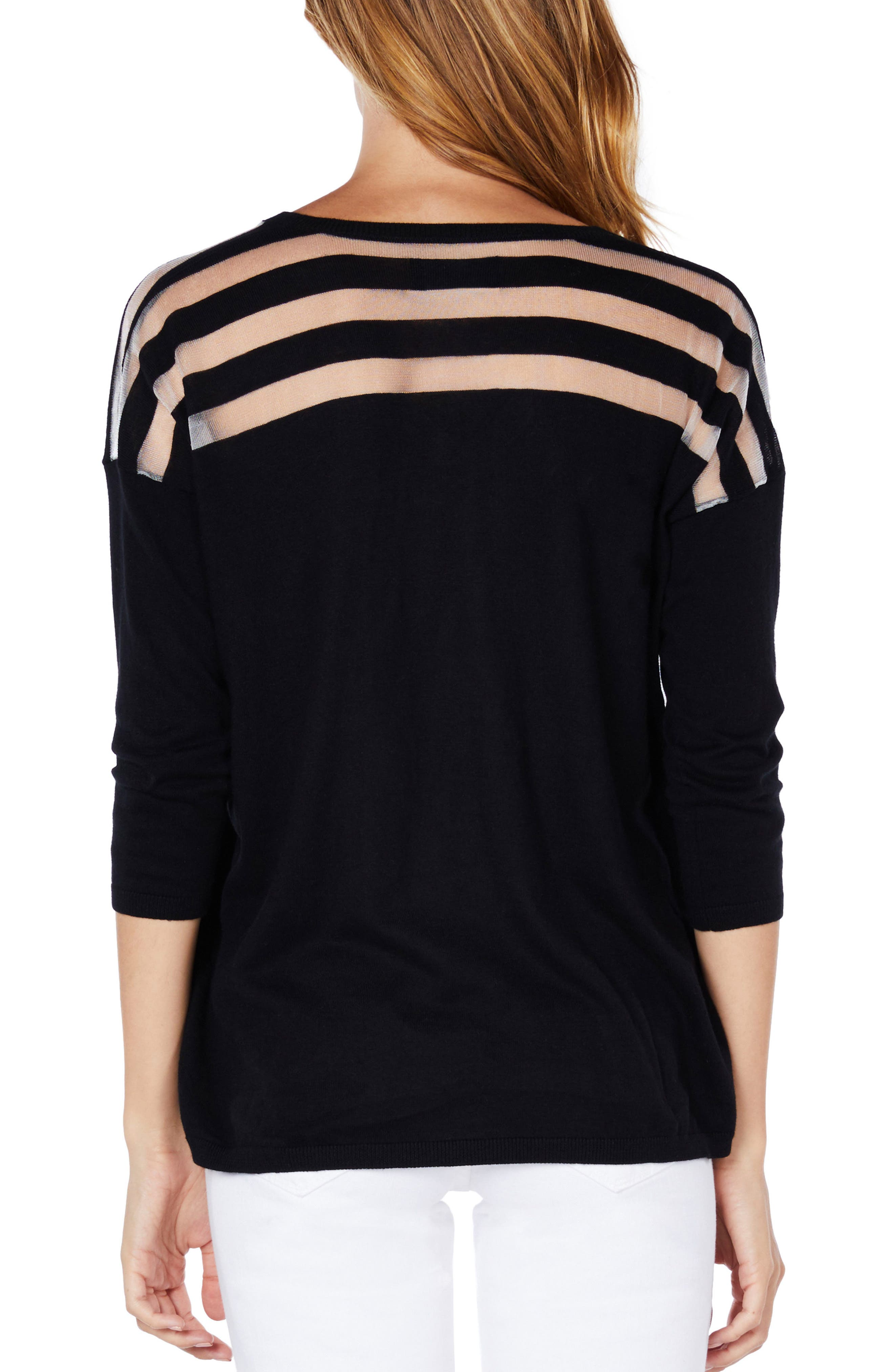 Sheer Stripe Sweater,                             Main thumbnail 1, color,