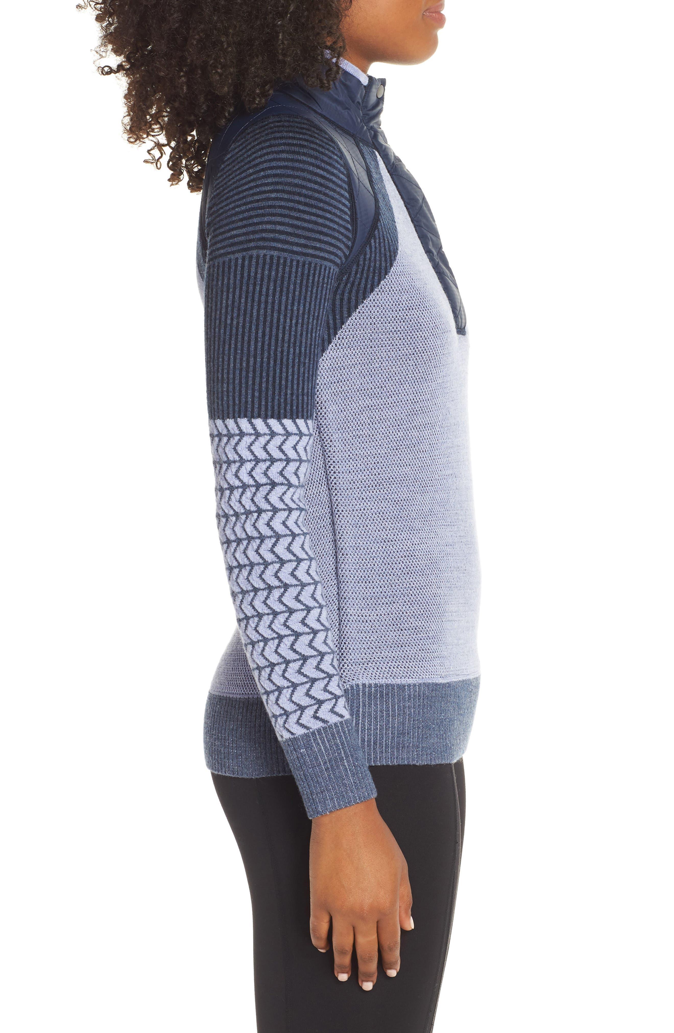 Ski Ninja Pullover Sweater,                             Alternate thumbnail 3, color,                             410