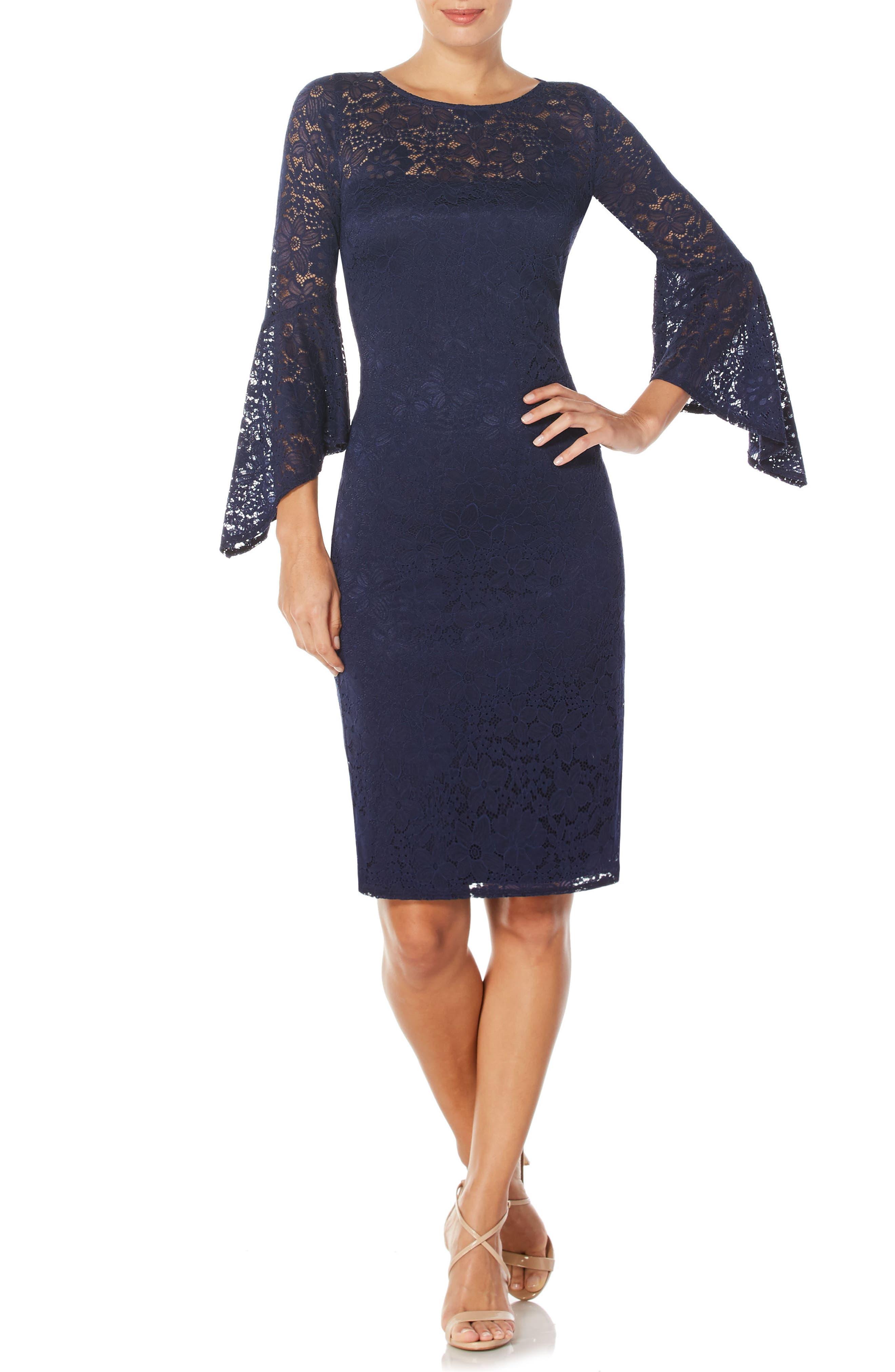 Lace Sheath Dress,                             Main thumbnail 1, color,                             479