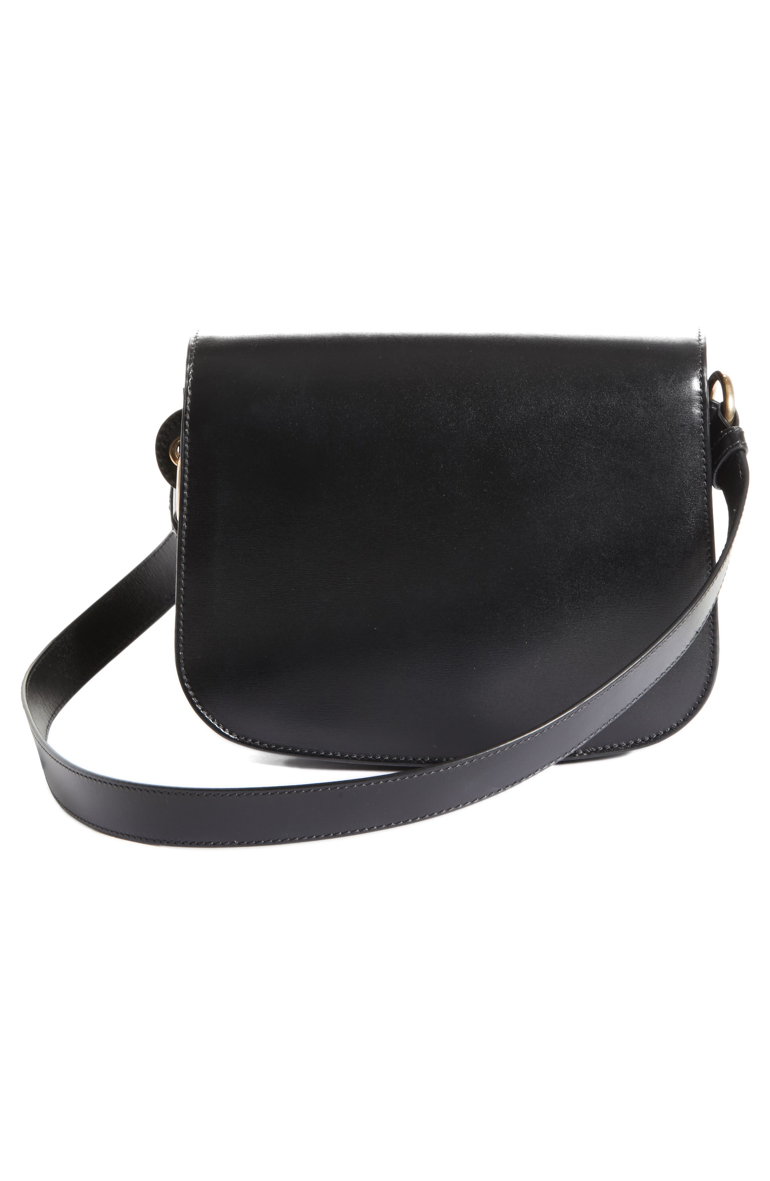 CALVIN KLEIN 209W39NYC Small Round Lock Shoulder Bag,                             Alternate thumbnail 3, color,                             BLACK