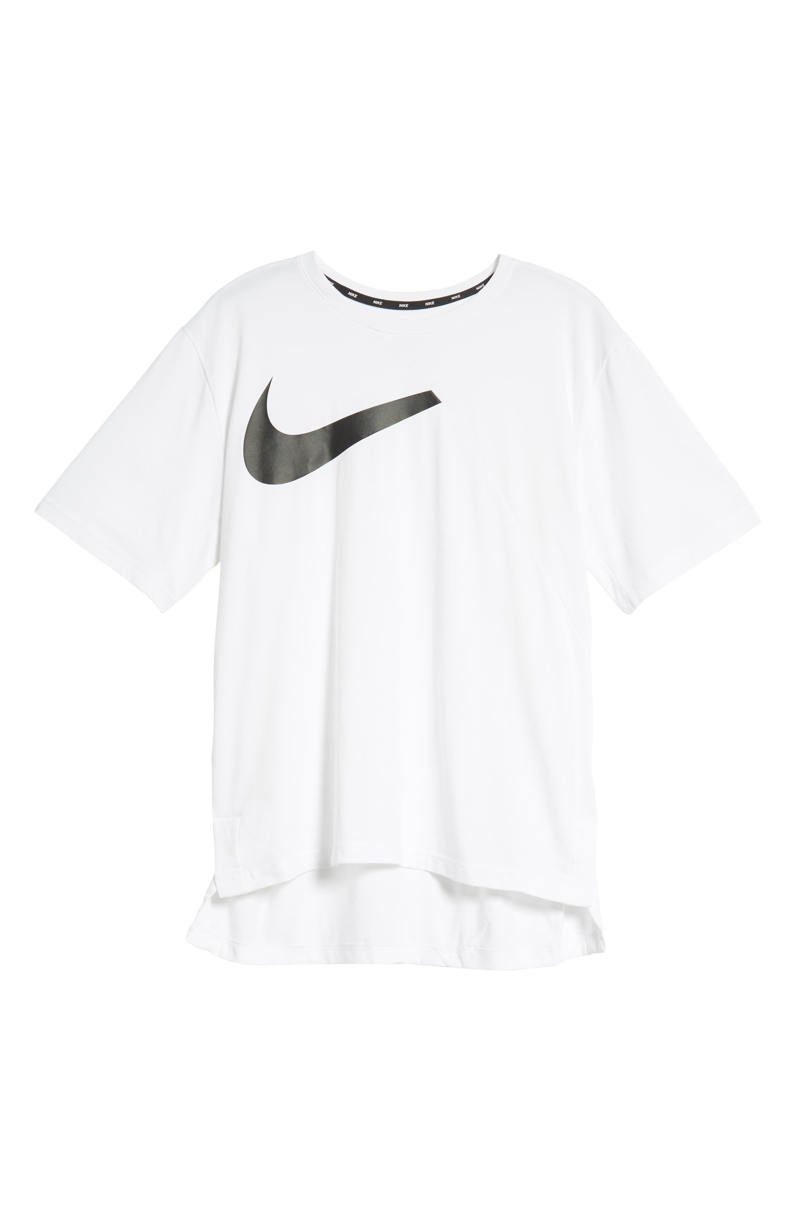 NIKE,                             Dry Performance T-Shirt,                             Alternate thumbnail 6, color,                             WHITE/ BLACK
