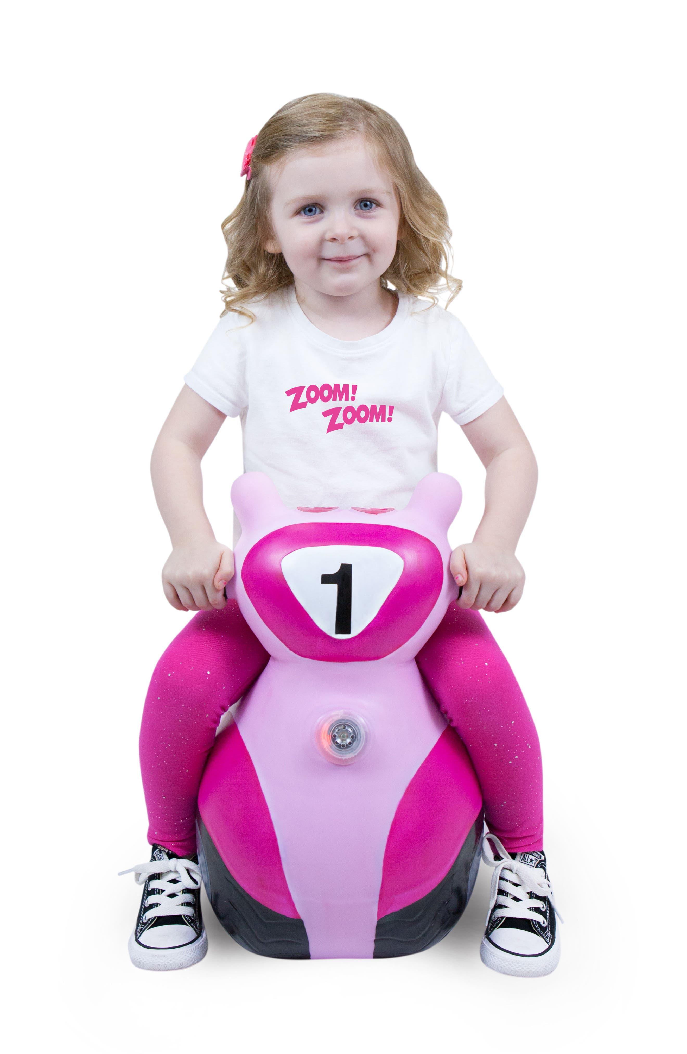 Scooter Bouncy Ride-On Scooter Toy,                             Alternate thumbnail 3, color,                             PINK