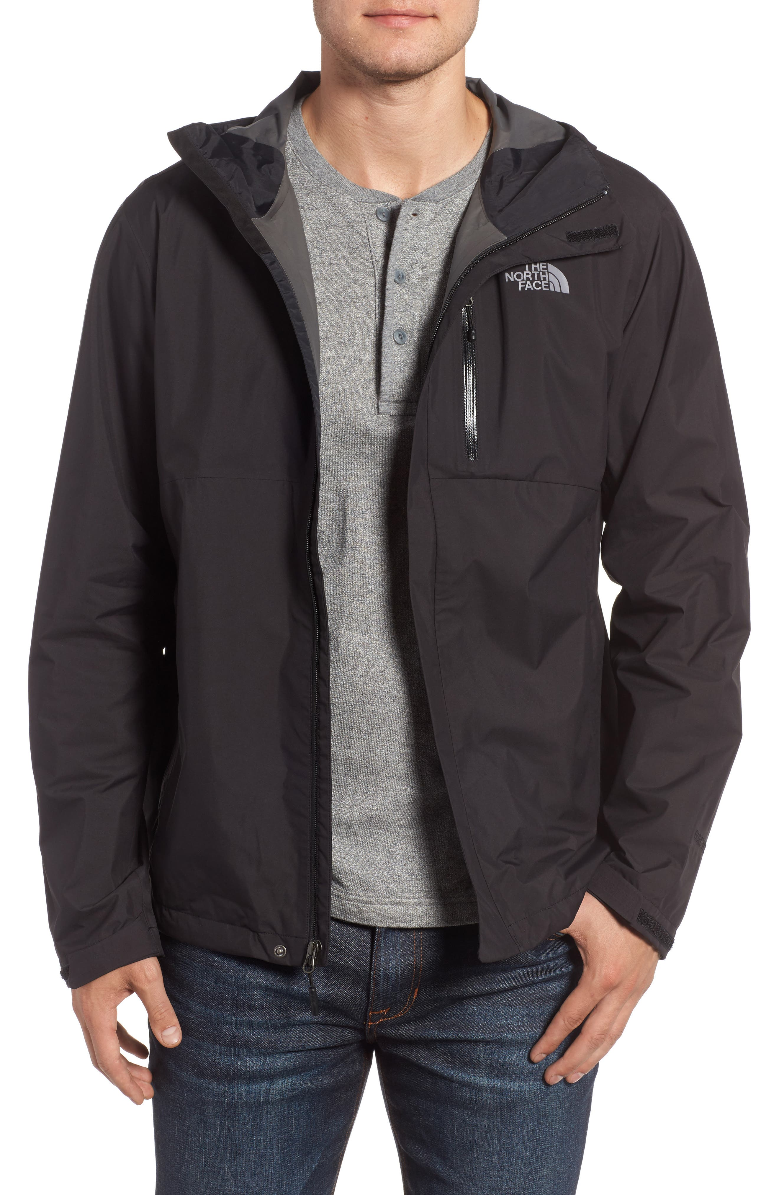 Dryzzle Gore-Tex<sup>®</sup> PacLite Hooded Jacket,                             Main thumbnail 1, color,                             001