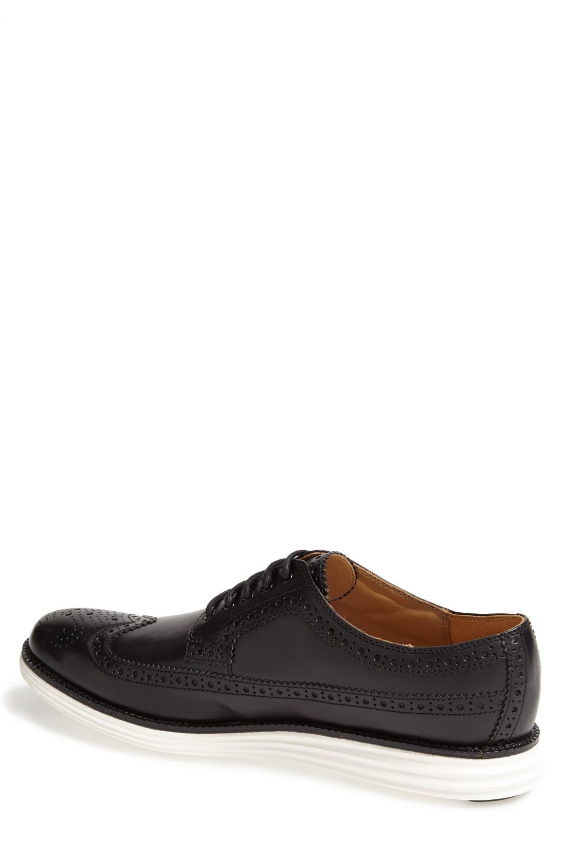 COLE HAAN,                             'LunarGrand' Wingtip,                             Alternate thumbnail 2, color,                             001