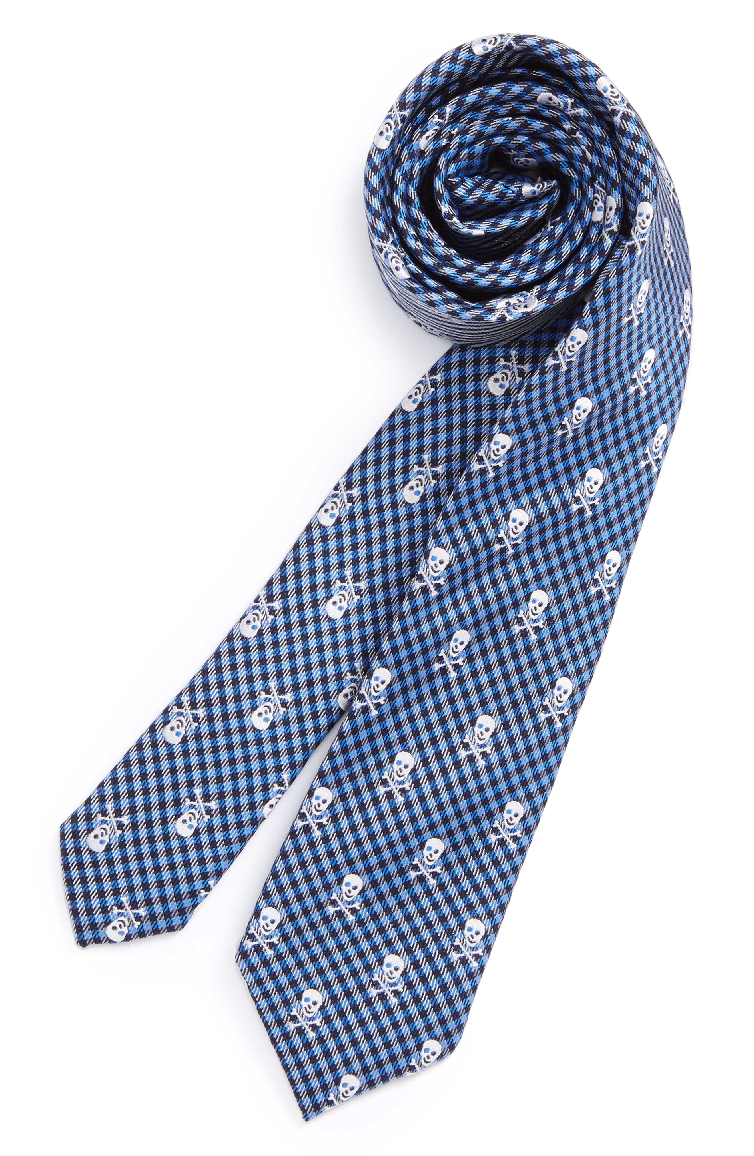Patterned Silk Tie,                             Main thumbnail 8, color,
