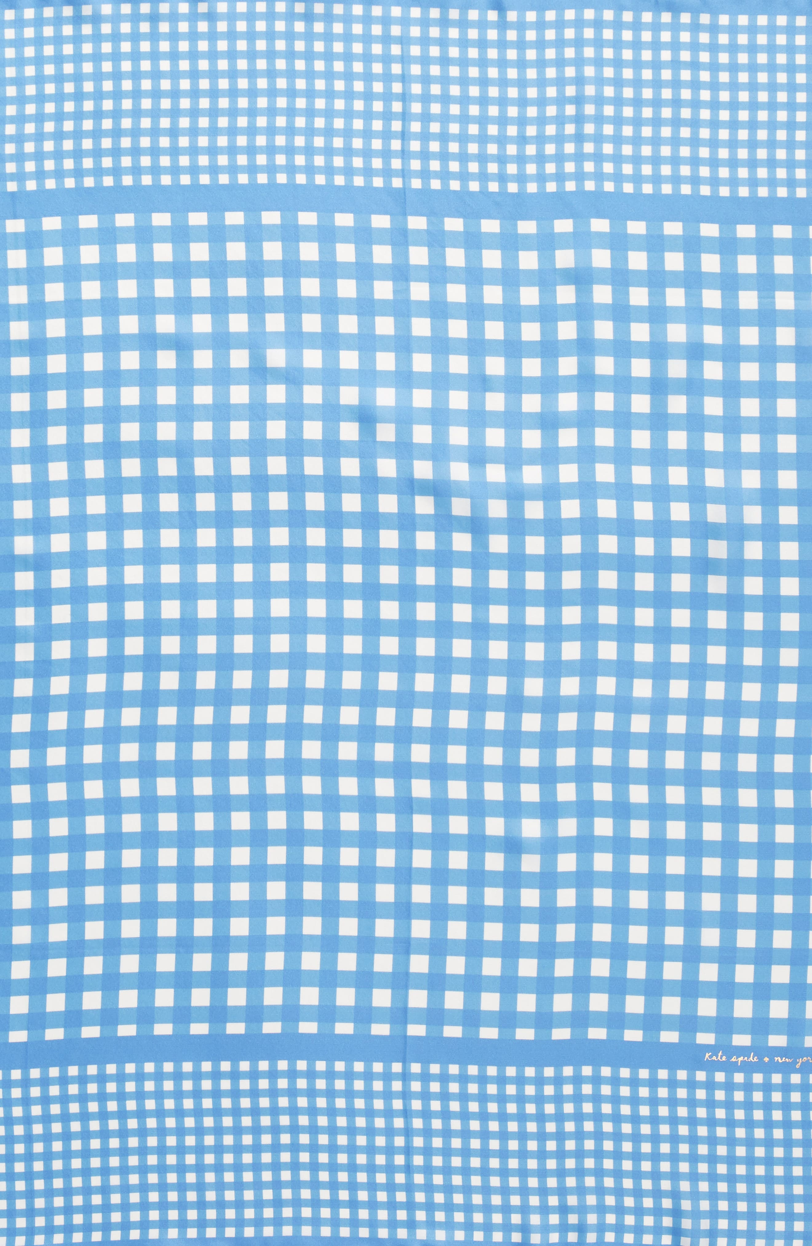 gingham square silk scarf,                             Alternate thumbnail 4, color,                             400