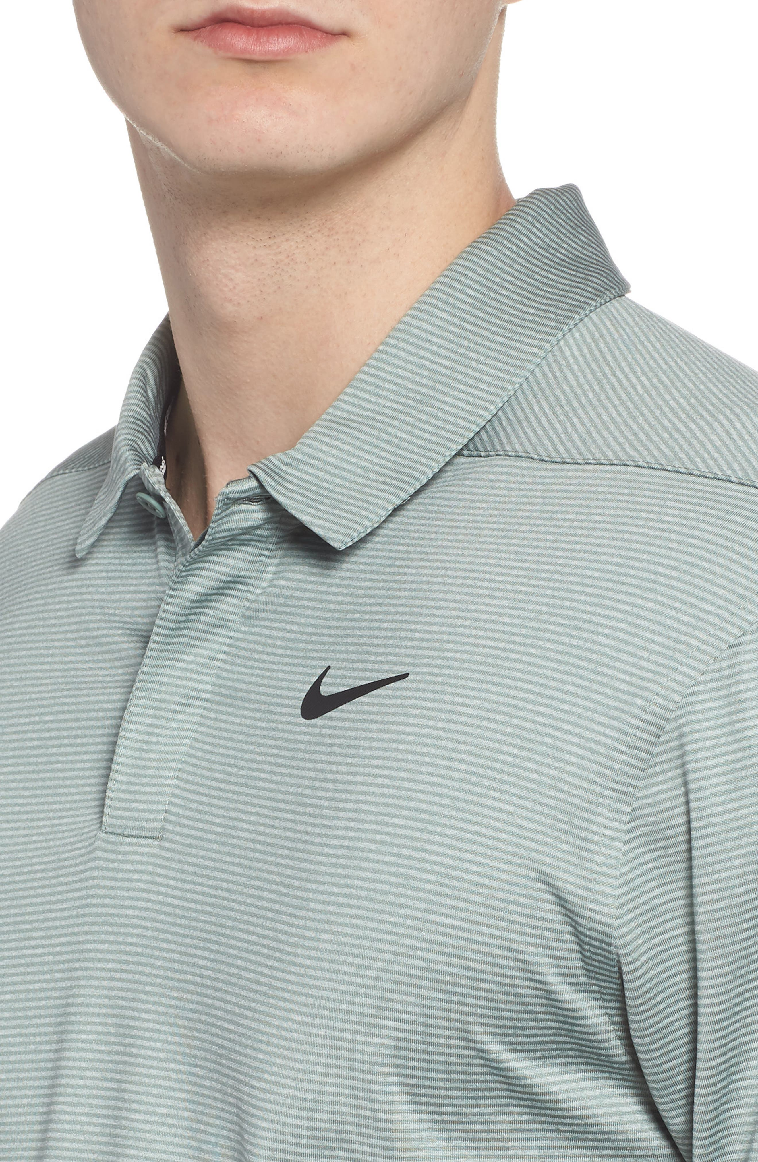 Dry Polo Shirt,                             Alternate thumbnail 4, color,                             CLAY GREEN/ BLACK