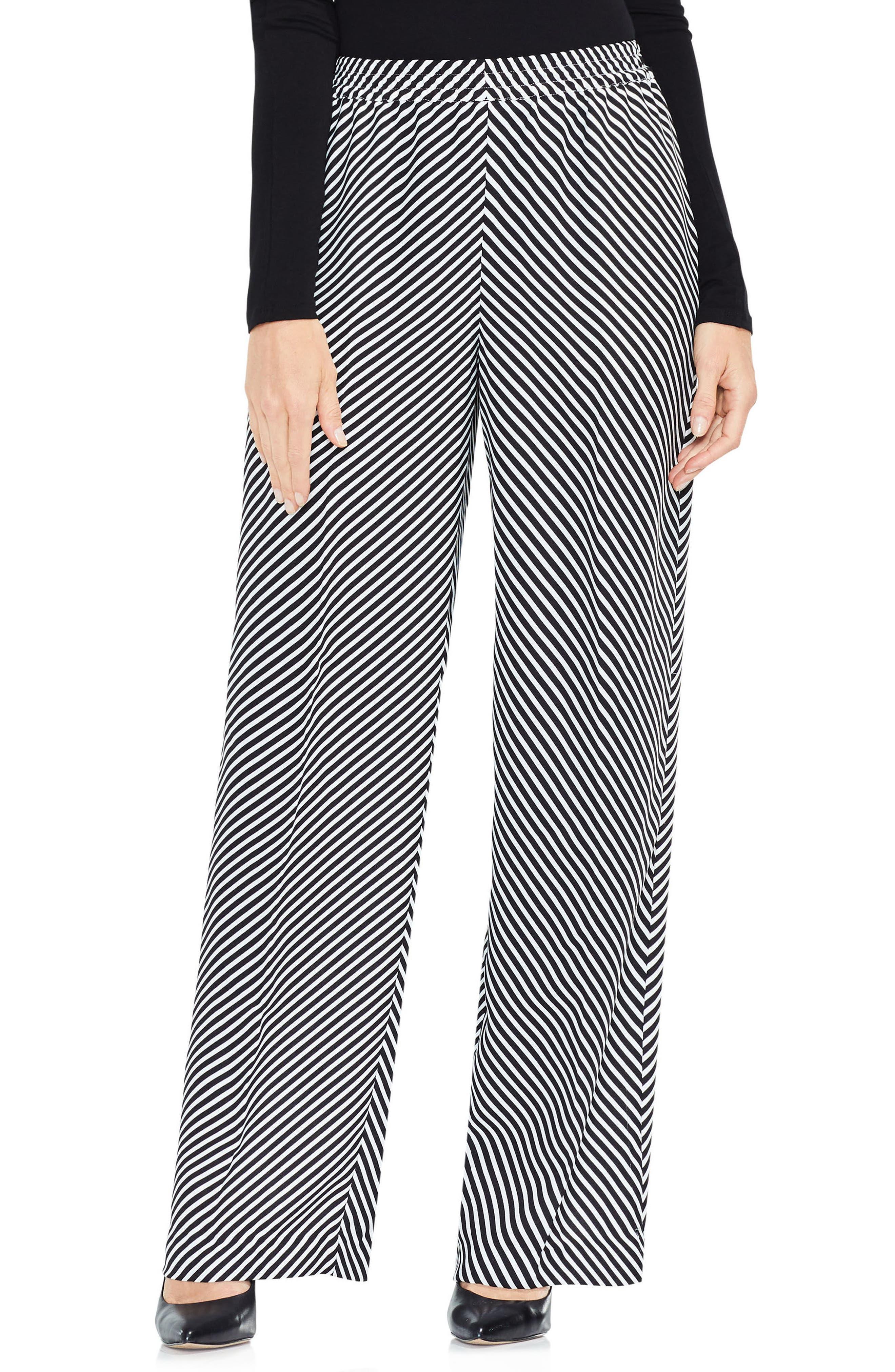 Diagonal Stripe Wide Leg Pants,                         Main,                         color, 006