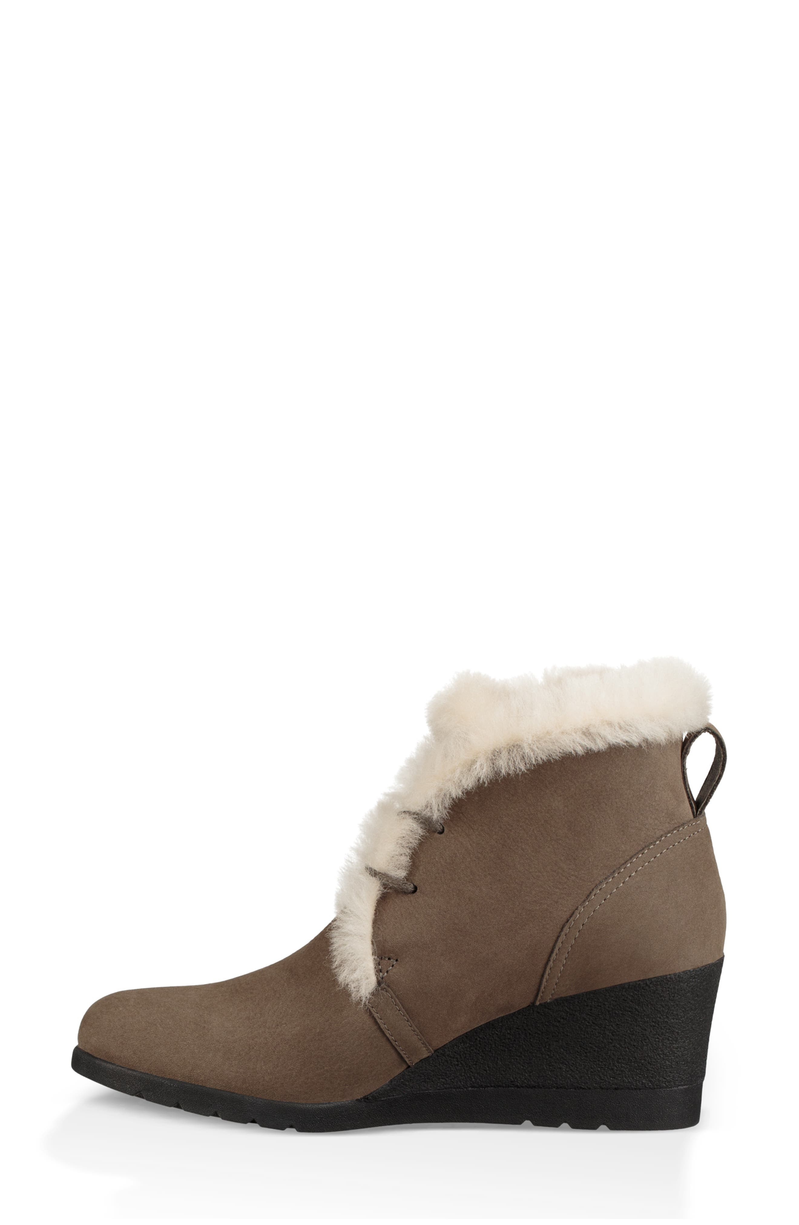 Jeovana Waterproof Genuine Shearling Lined Boot,                             Alternate thumbnail 6, color,                             MYSTERIOUS