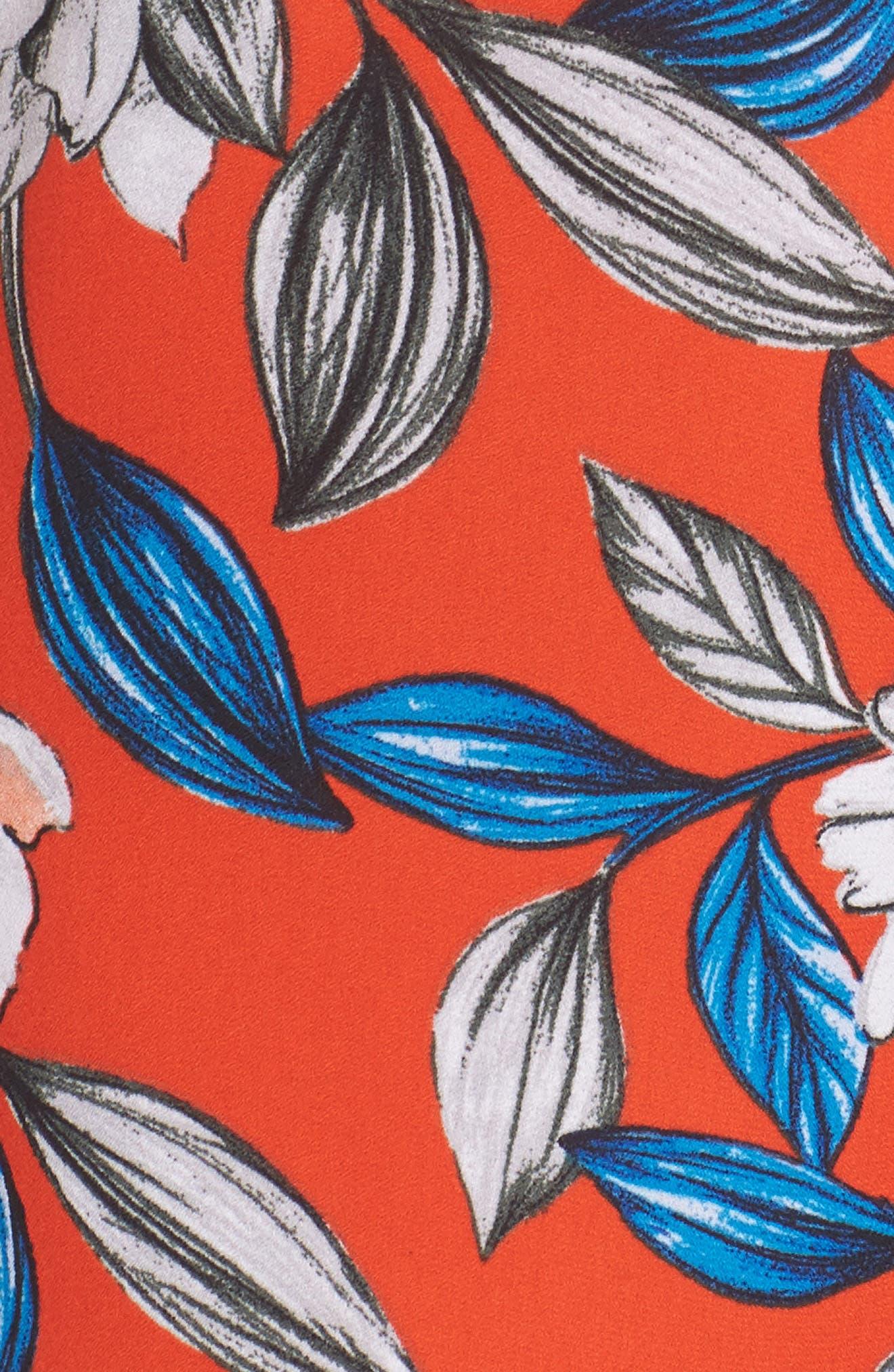 Full Bloom Cutout Floral Jumpsuit,                             Alternate thumbnail 5, color,                             619