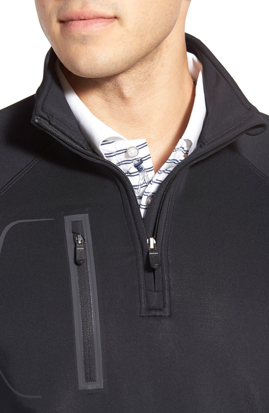 XH2O Crawford Stretch Quarter Zip Golf Vest,                             Alternate thumbnail 4, color,                             001