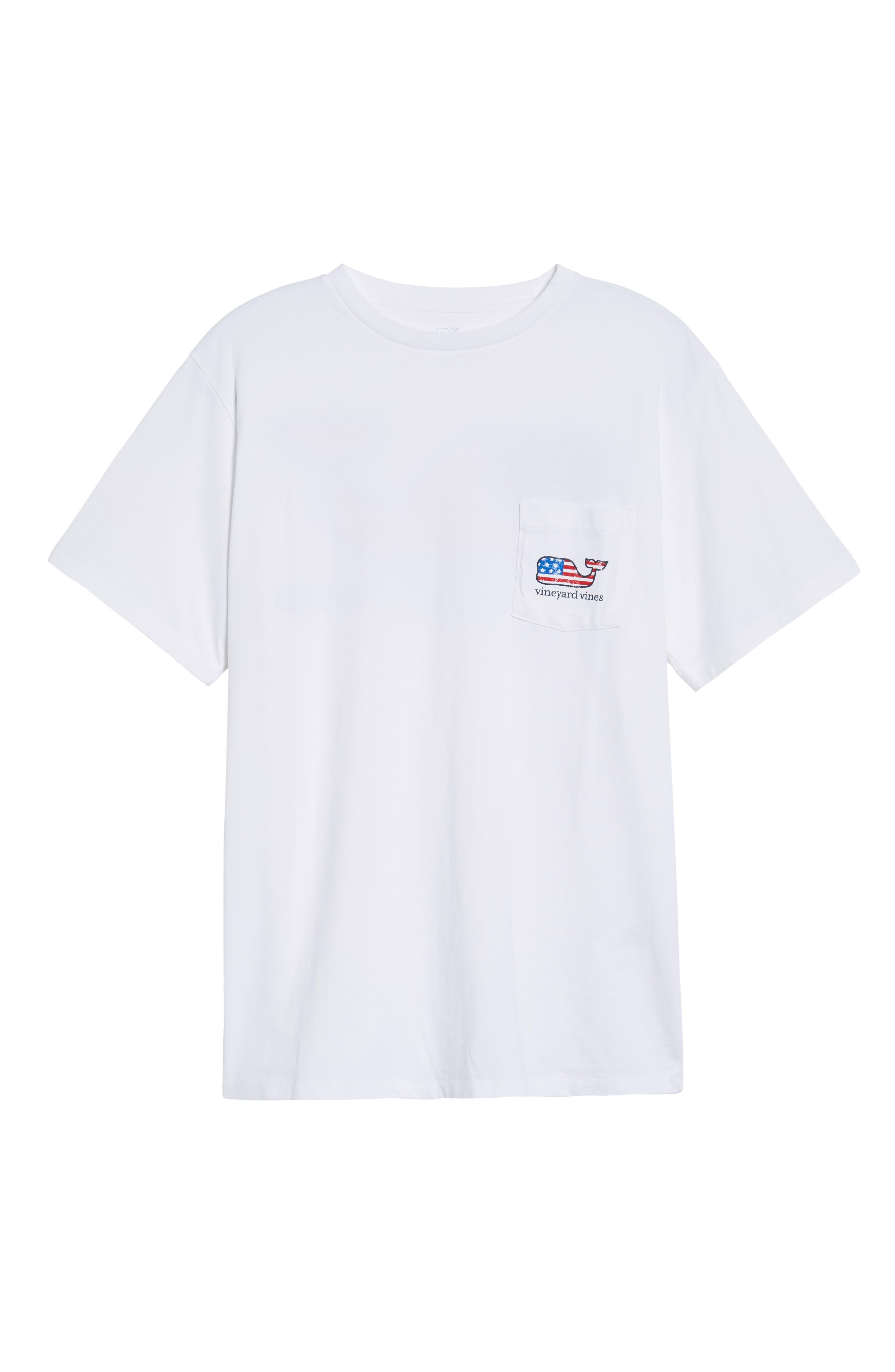 American Flag Whale Graphic T-Shirt,                             Alternate thumbnail 3, color,                             WHITE CAP
