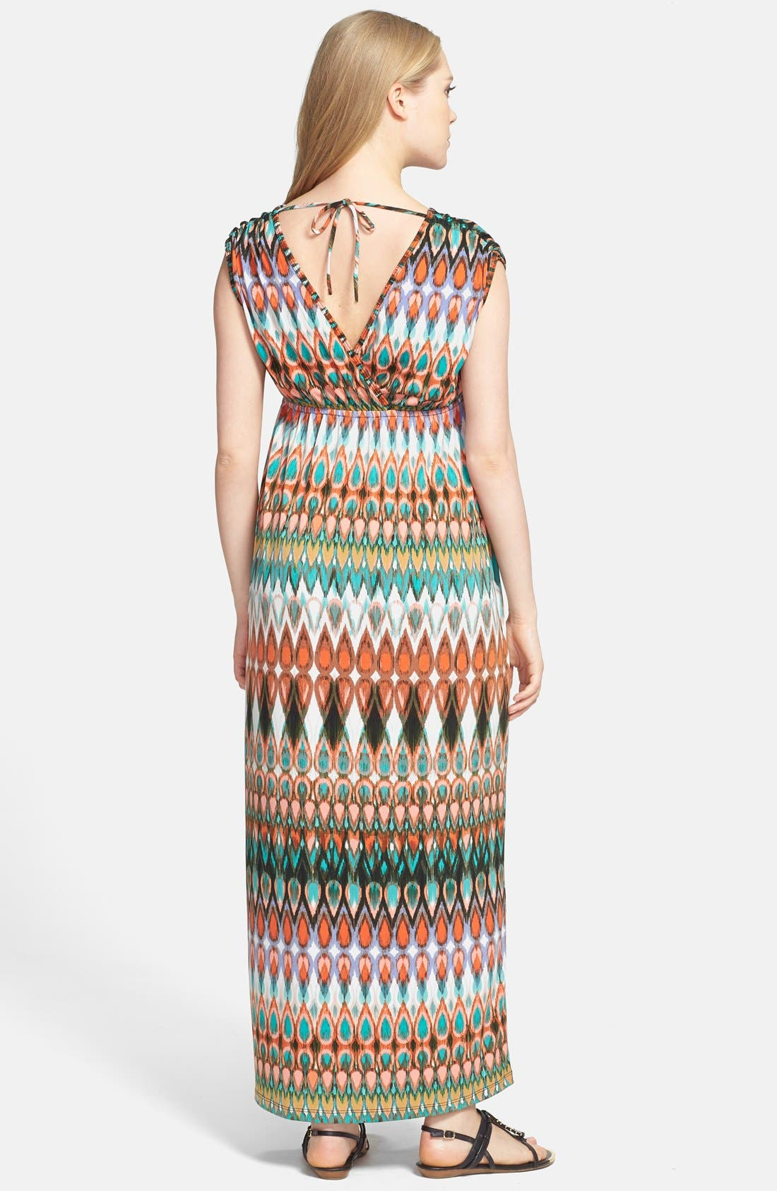 Maxi Dress,                             Alternate thumbnail 9, color,                             001