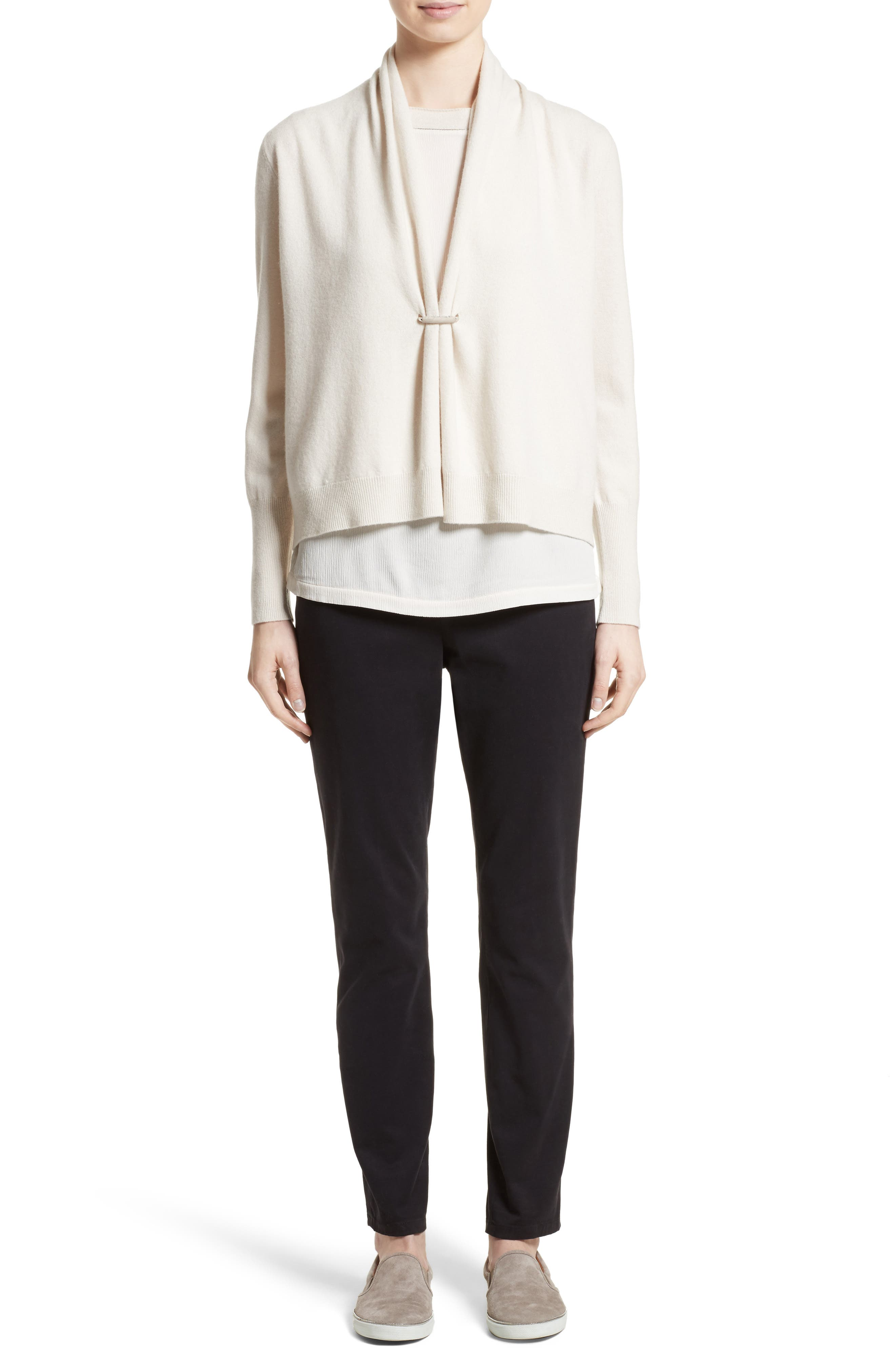 Wool, Silk & Cashmere Shawl Collar Cardigan,                             Alternate thumbnail 6, color,                             101
