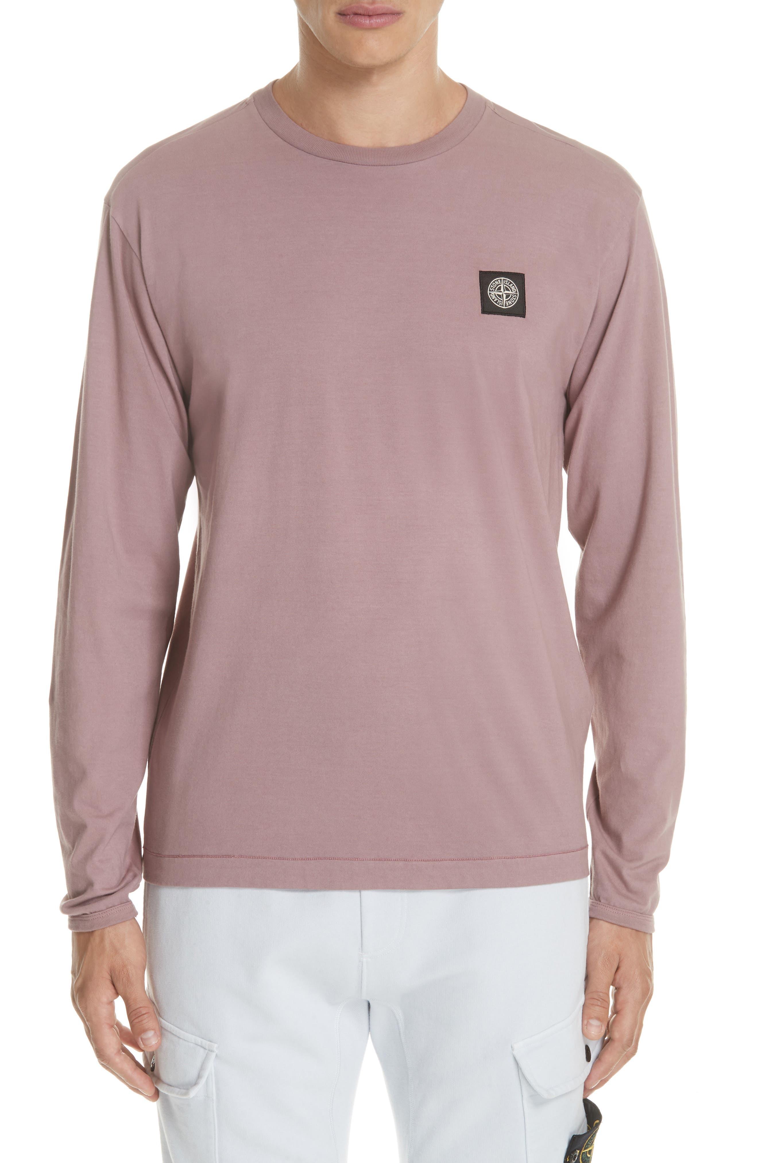 Long Sleeve T-Shirt,                         Main,                         color, ROSE QUARTZ