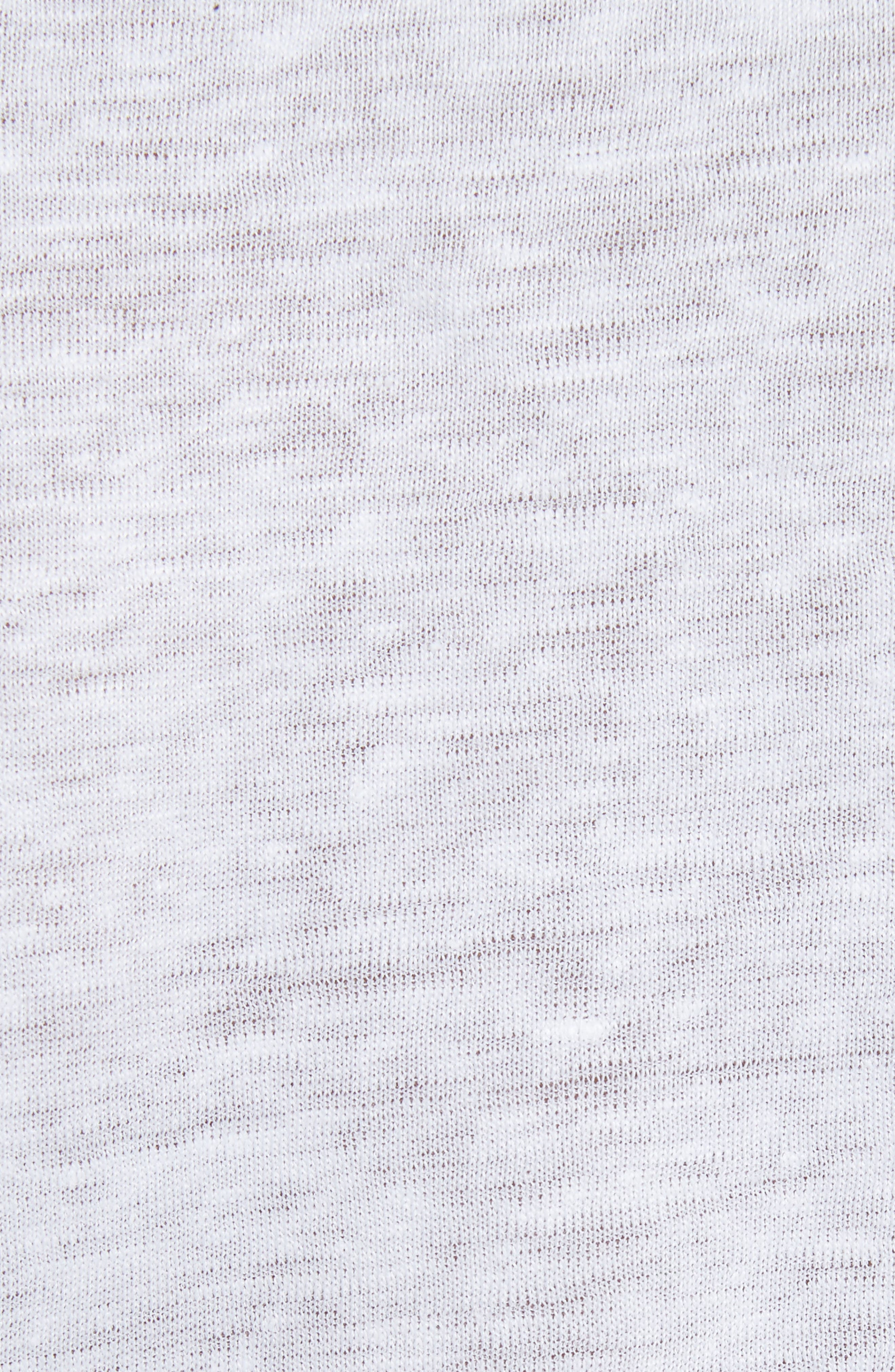 Stretch Linen V-Neck Tee,                             Alternate thumbnail 5, color,                             100