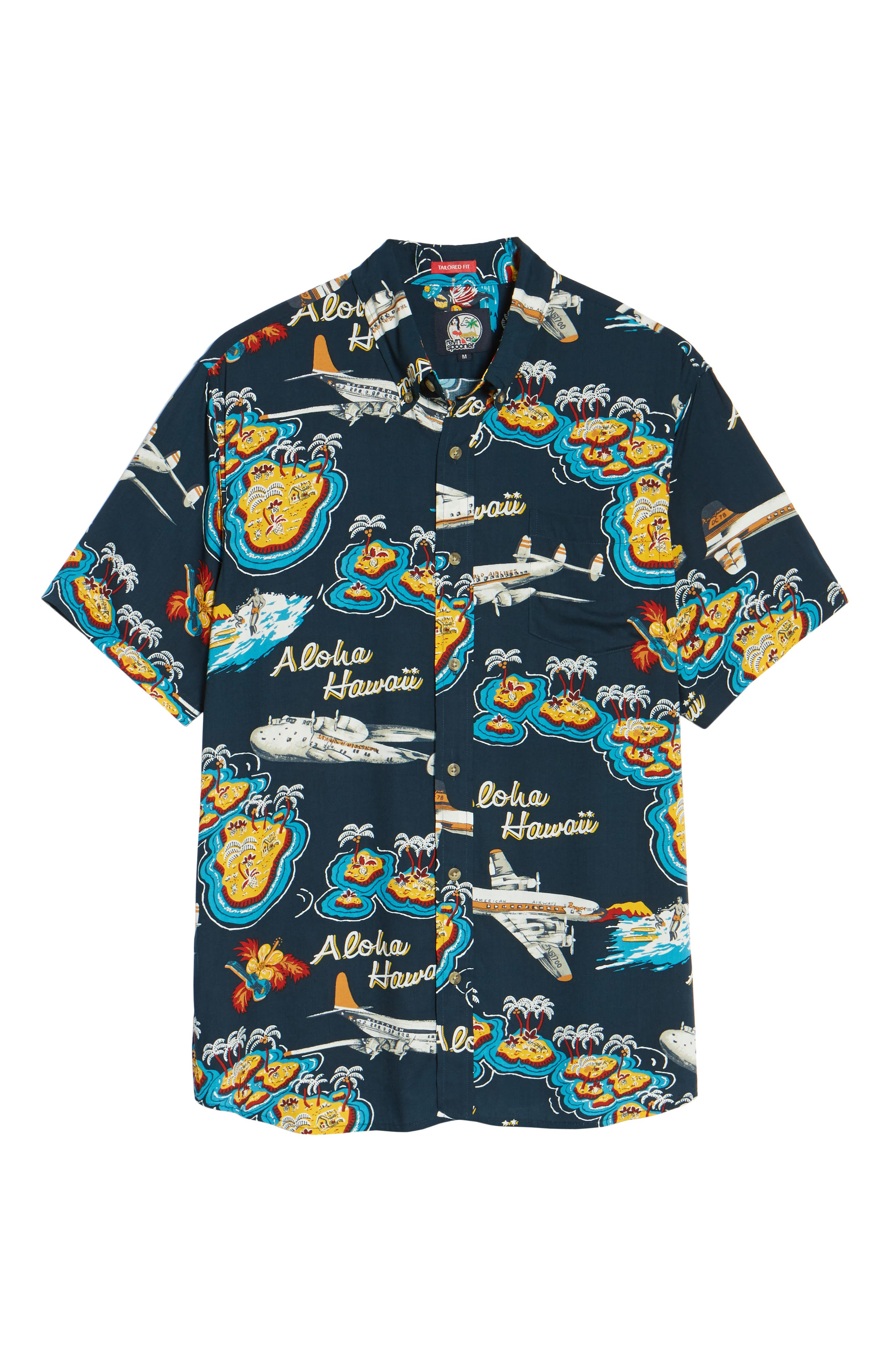 Birds in Paradise Modern Fit Shirt,                             Alternate thumbnail 6, color,                             410