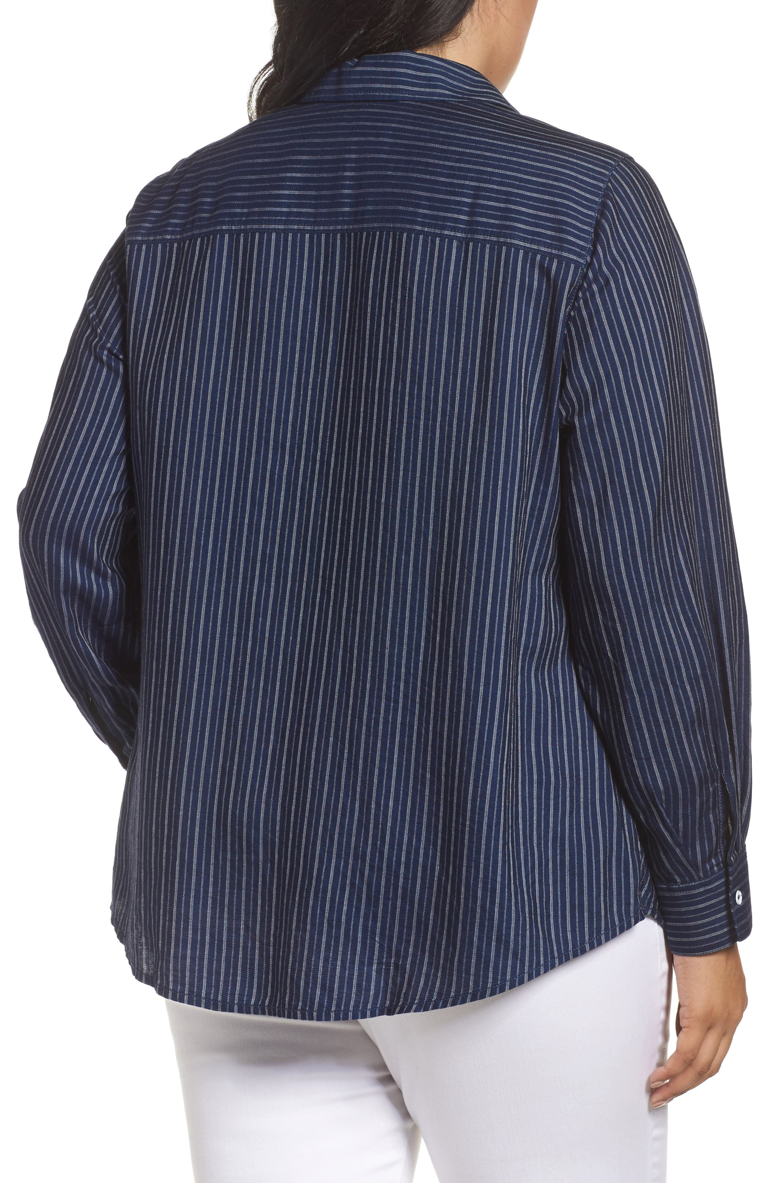 Hazel Pinstripe Shirt,                             Alternate thumbnail 2, color,