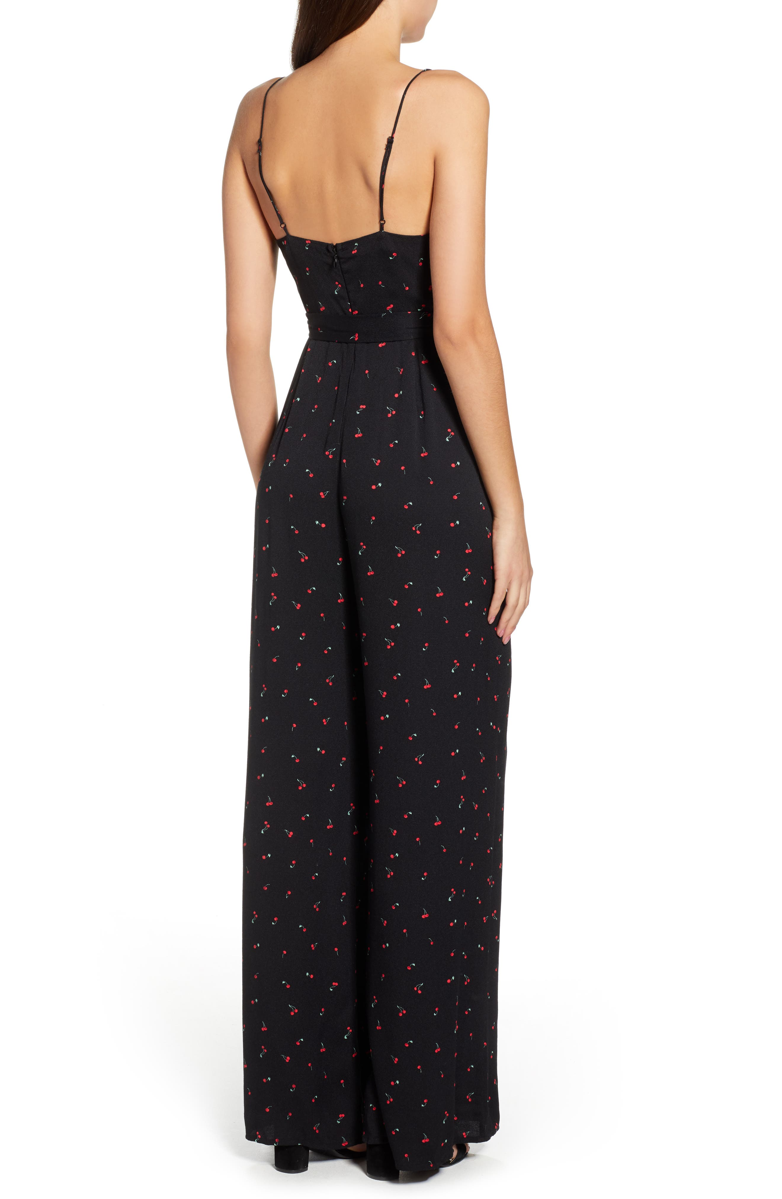 Mel Belted Jumpsuit,                             Alternate thumbnail 2, color,                             BABY CHERRY