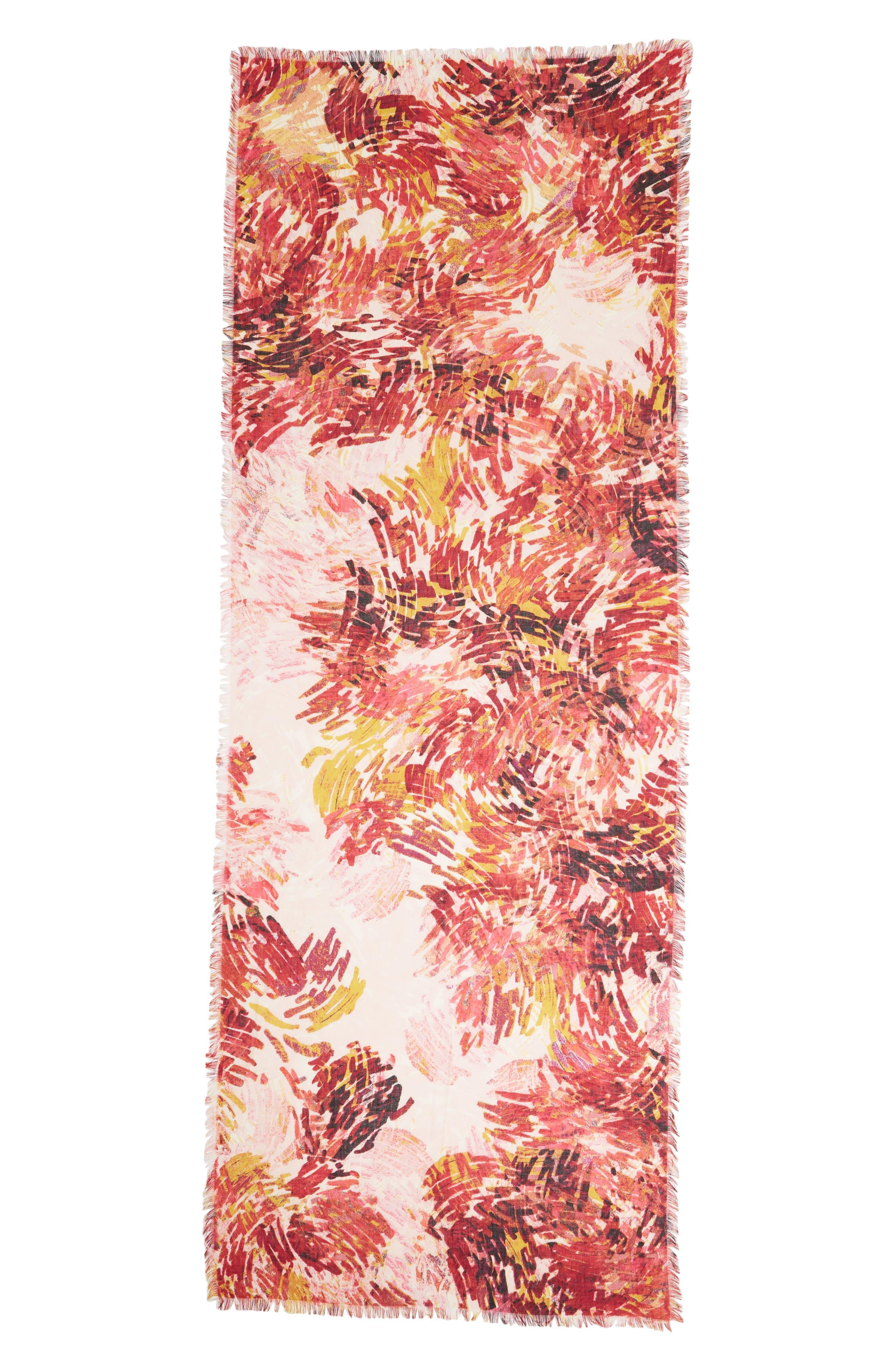 Eyelash Trim Print Cashmere & Silk Wrap,                             Alternate thumbnail 84, color,