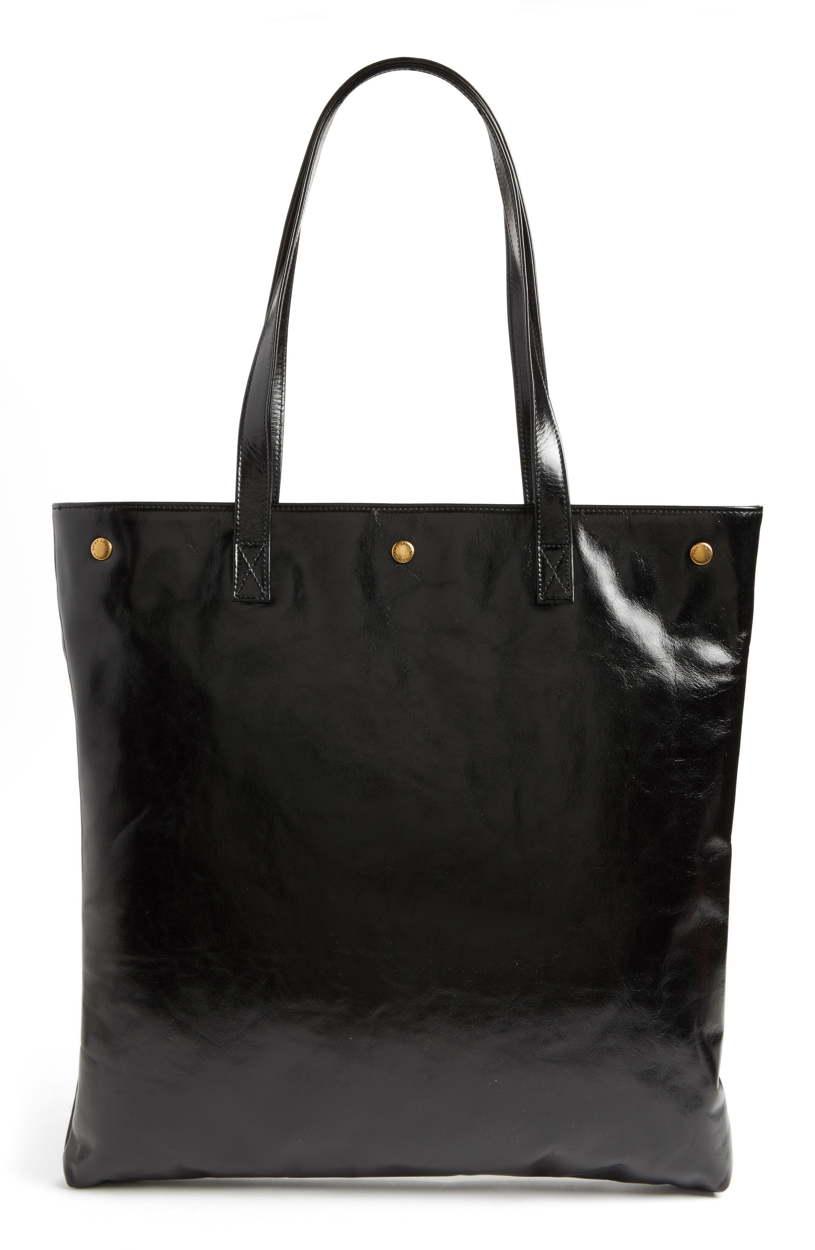 Noe Glacé Moroder Leather Tote,                             Alternate thumbnail 3, color,                             001