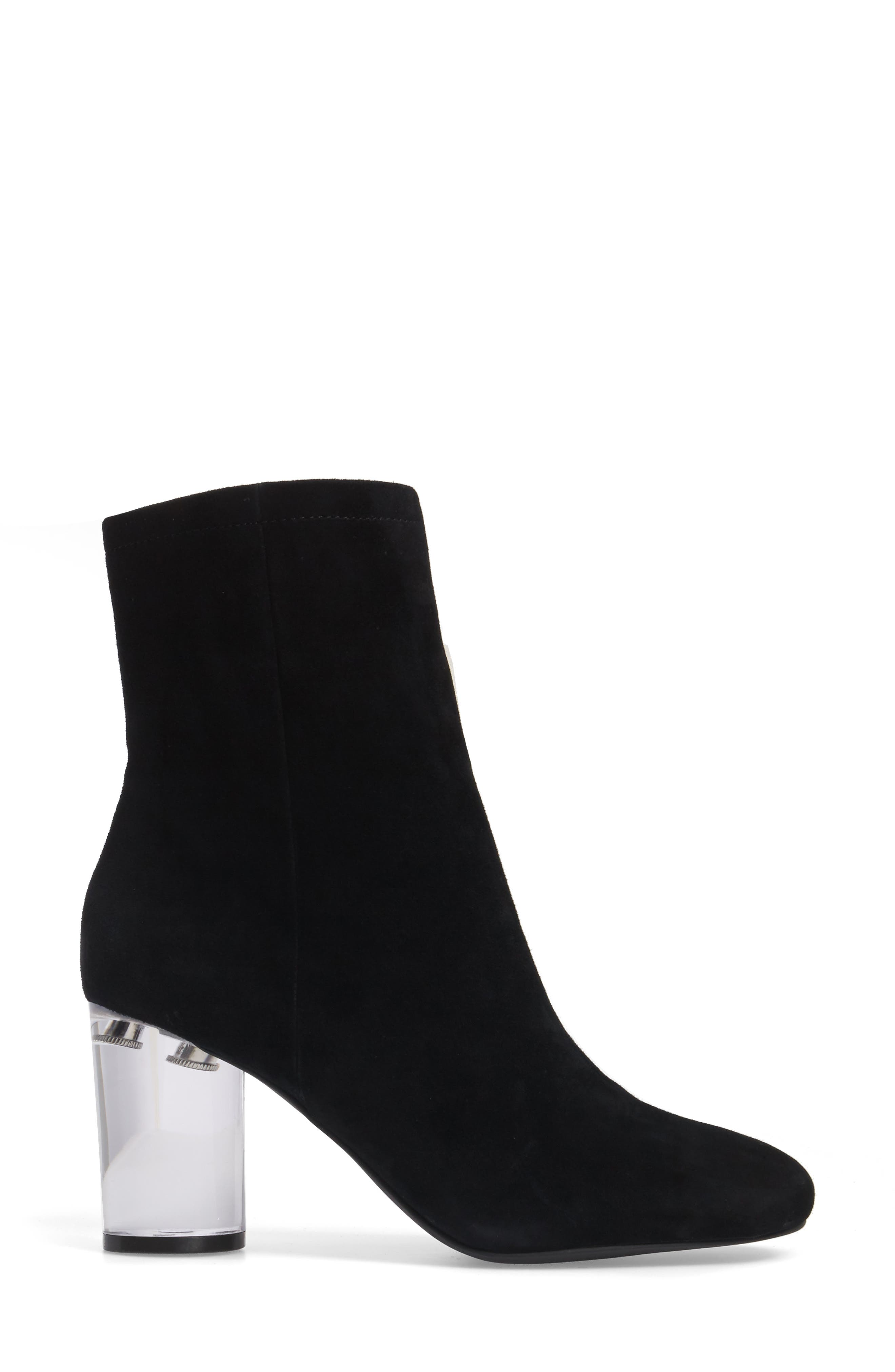 Merta Column Heel Bootie,                             Alternate thumbnail 3, color,                             001