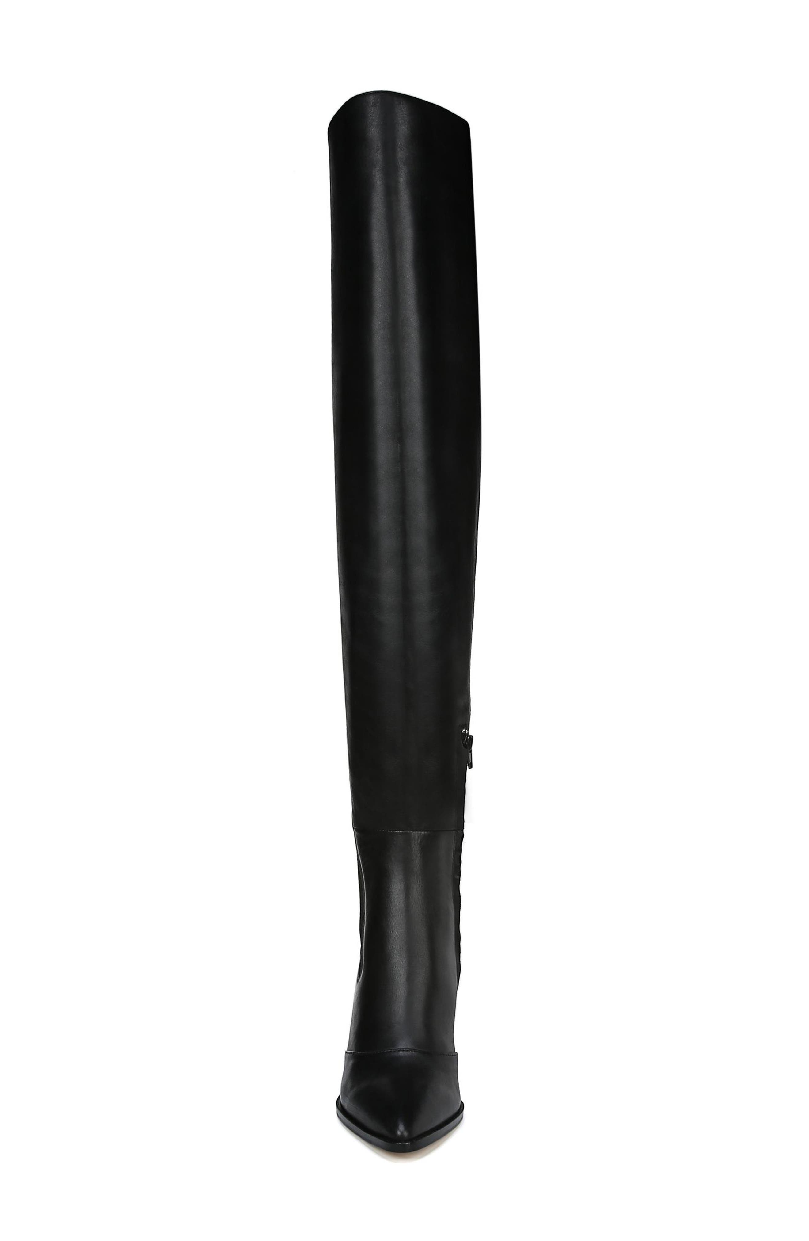 Natasha Over the Knee Boot,                             Alternate thumbnail 4, color,                             BLACK LEATHER