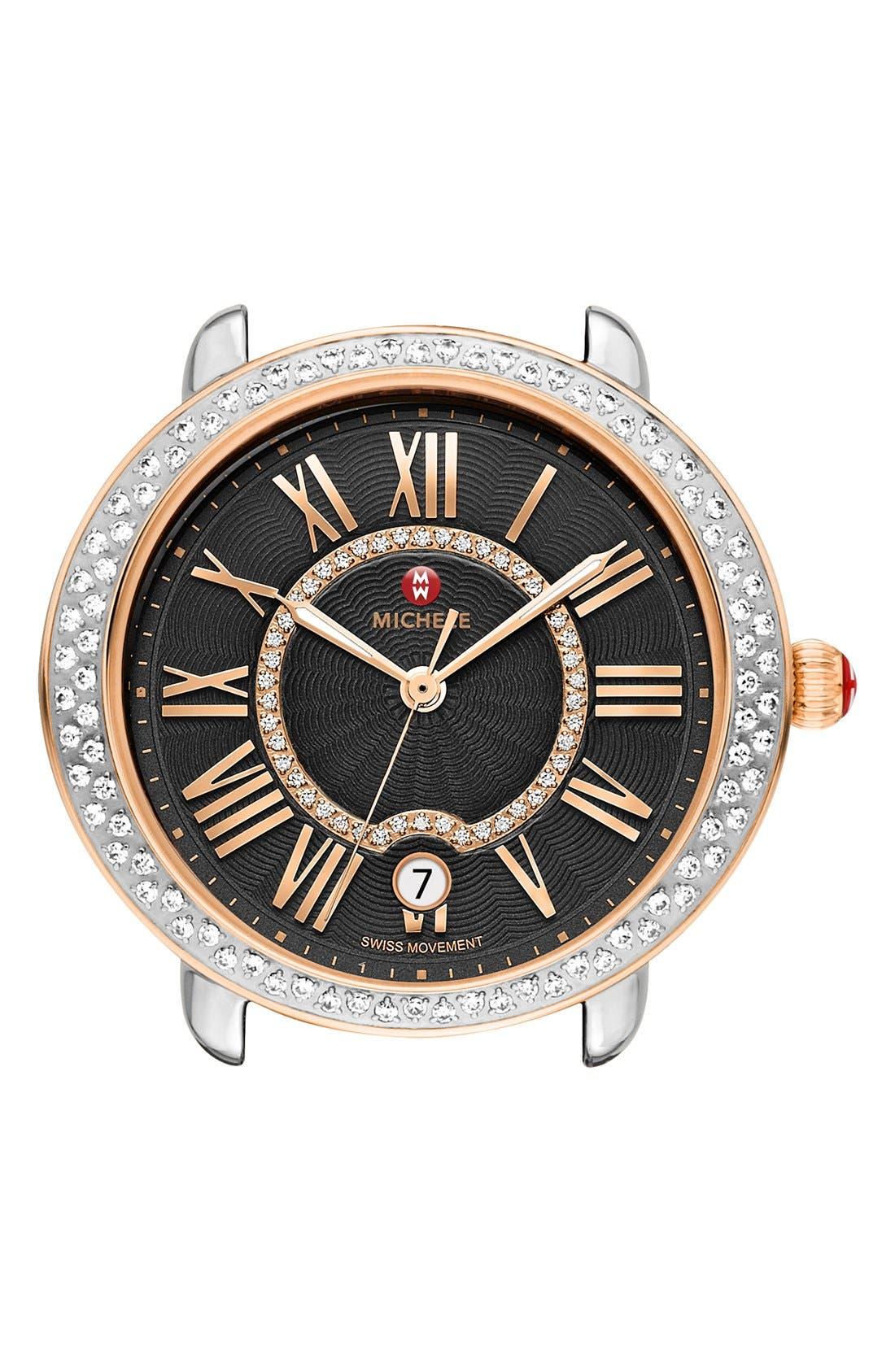 Serein 16 Diamond Watch Case, 34mm x 36mm,                         Main,                         color,