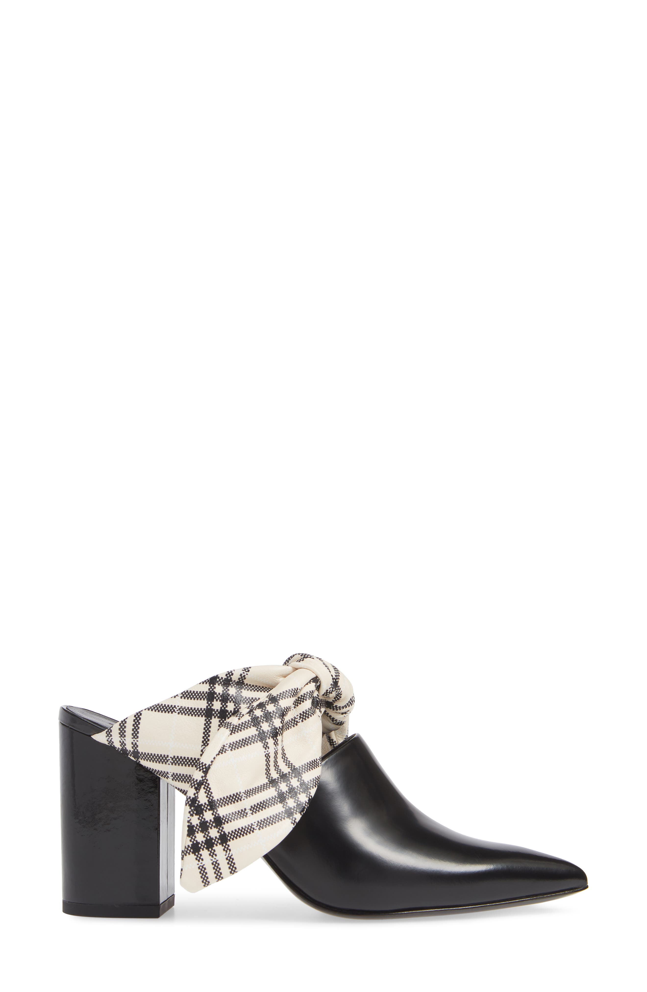 Lily Mule,                             Alternate thumbnail 3, color,                             BLACK CALF LEATHER