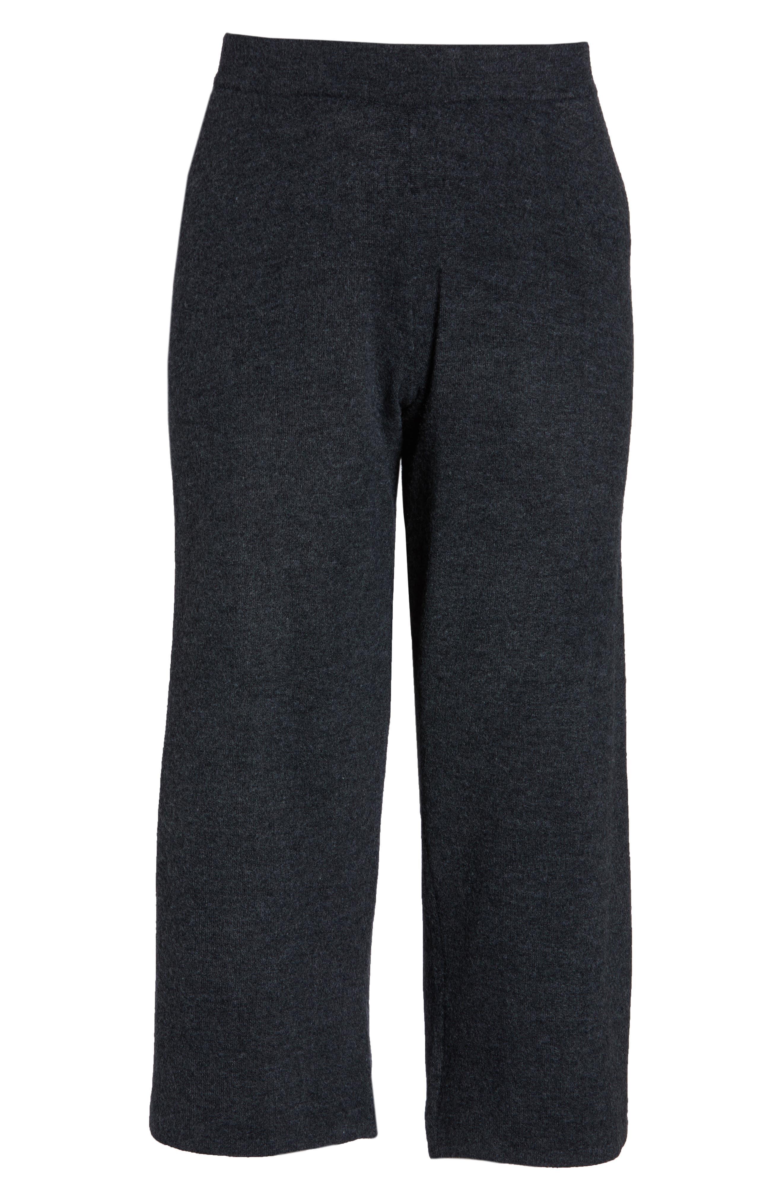 CASLON<SUP>®</SUP>,                             Off Duty Stripe Sweatpants,                             Alternate thumbnail 7, color,                             GREY DARK CHARCOAL HEATHER- LA