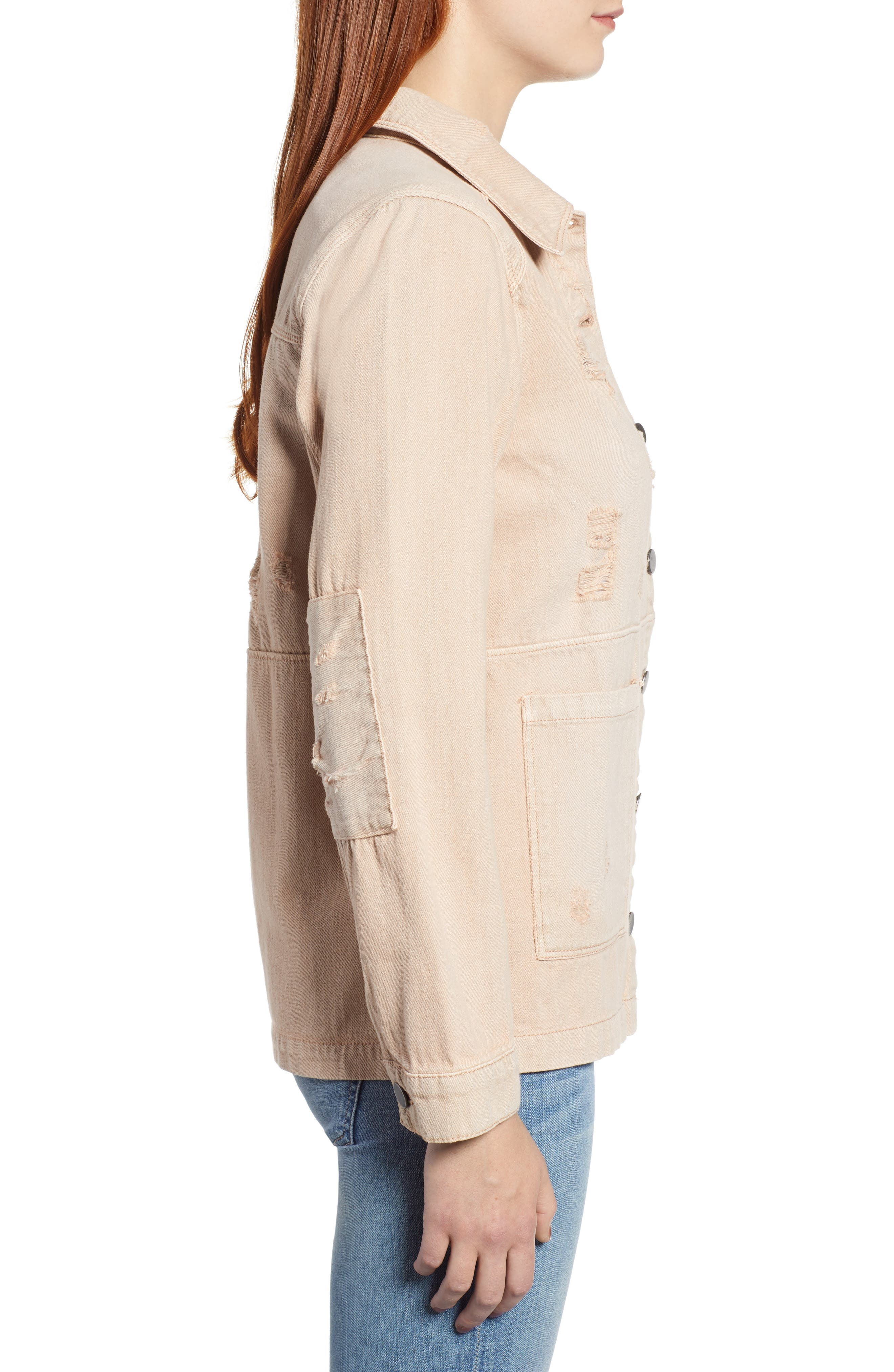 Claudia Oversize Denim Jacket,                             Alternate thumbnail 3, color,                             250