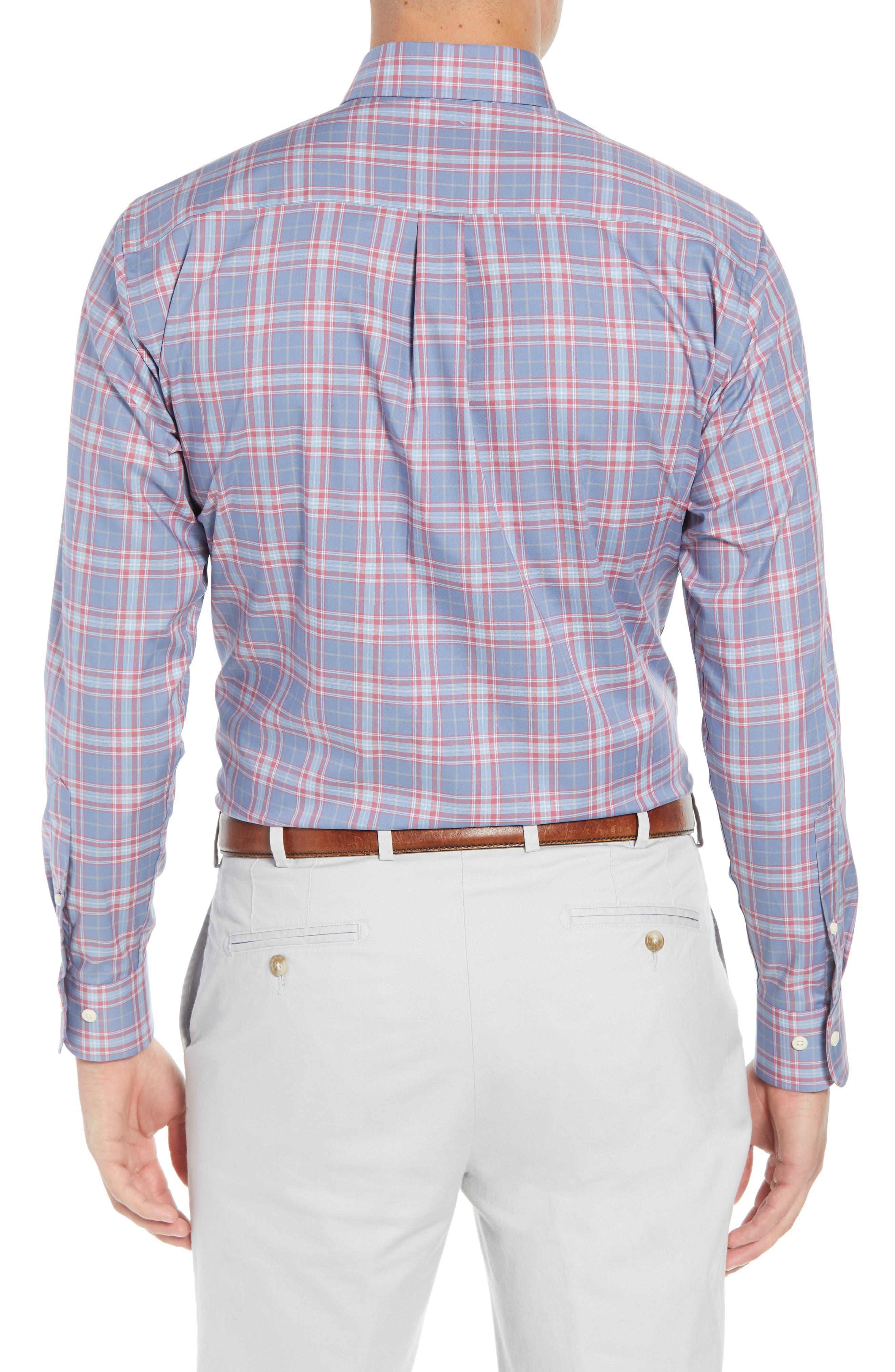 Crown Ease Archipelago Regular Fit Plaid Sport Shirt,                             Alternate thumbnail 3, color,                             524