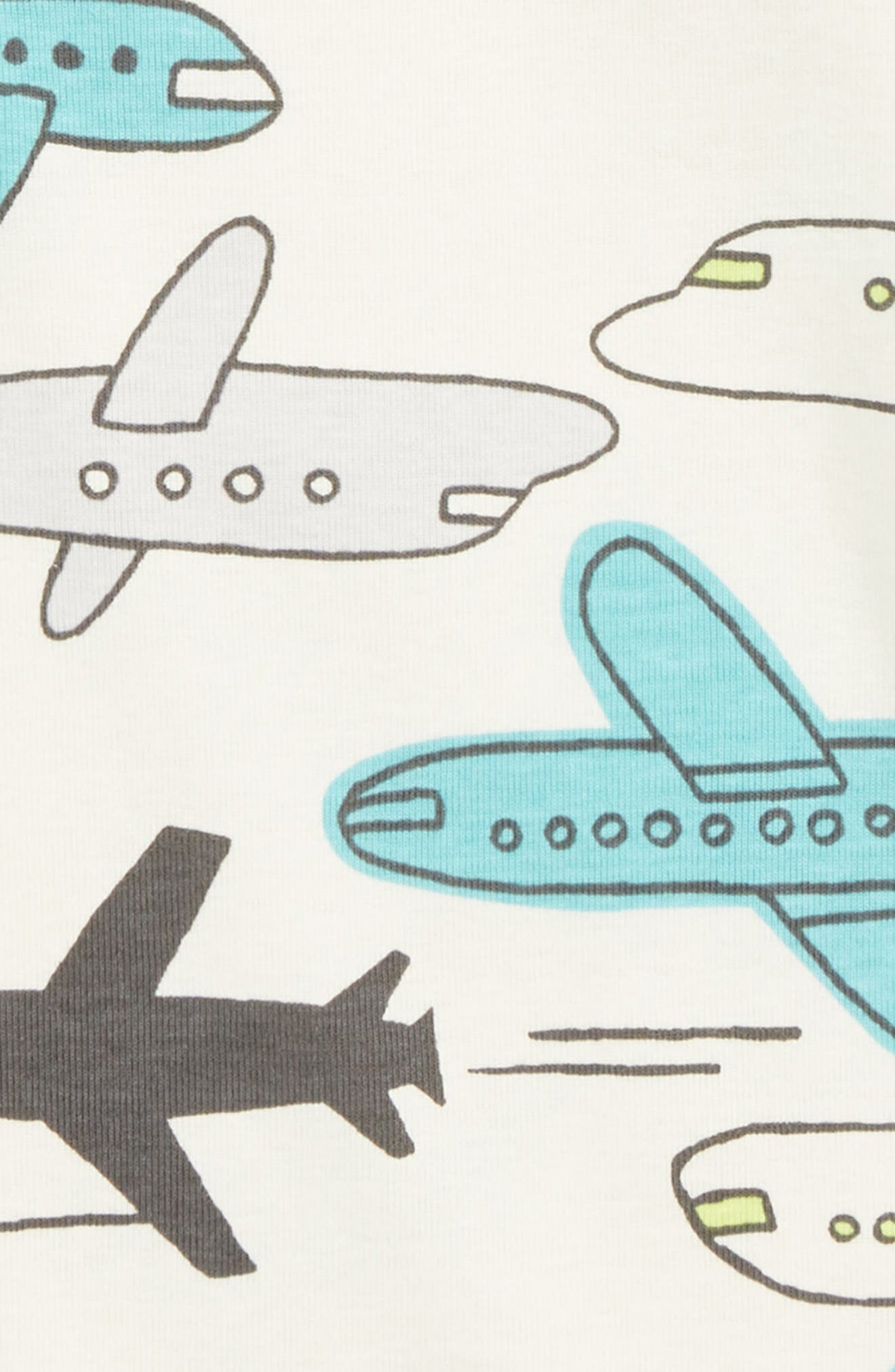 Fitted Two-Piece Pajamas,                             Alternate thumbnail 2, color,                             JET PLANES