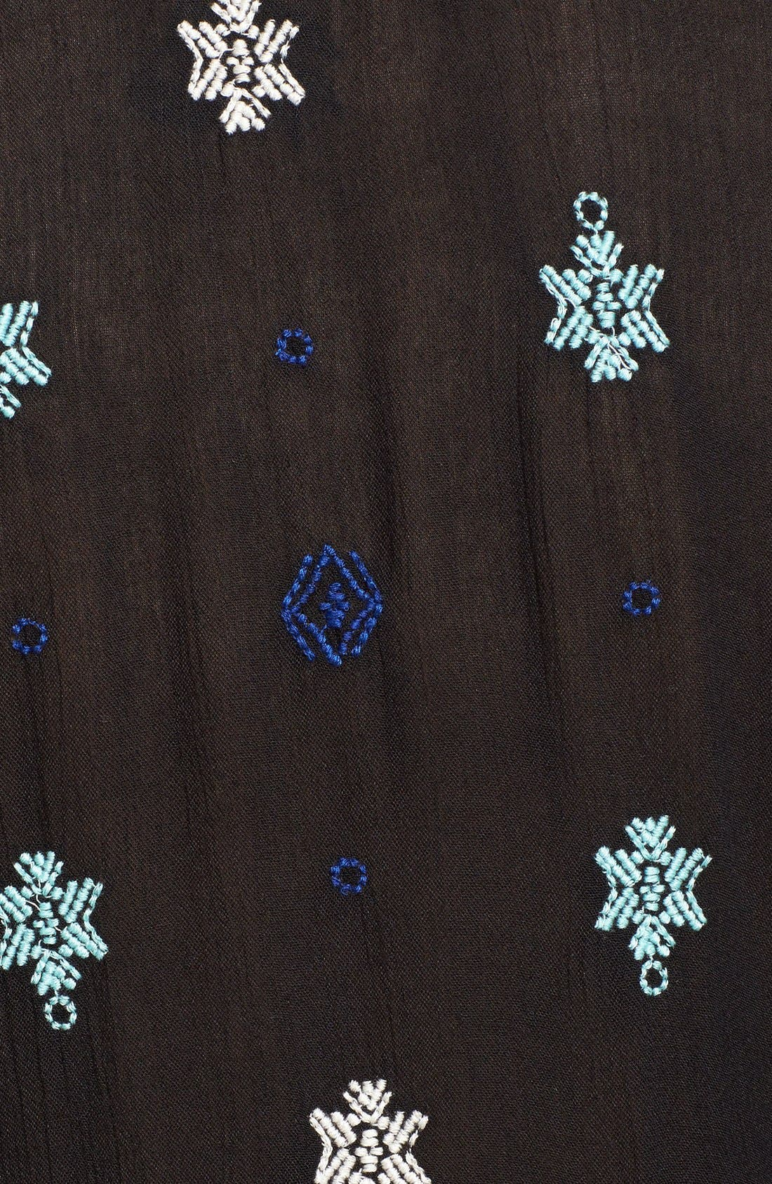 'Star Gazer' Embroidered Tunic Dress,                             Alternate thumbnail 3, color,                             001