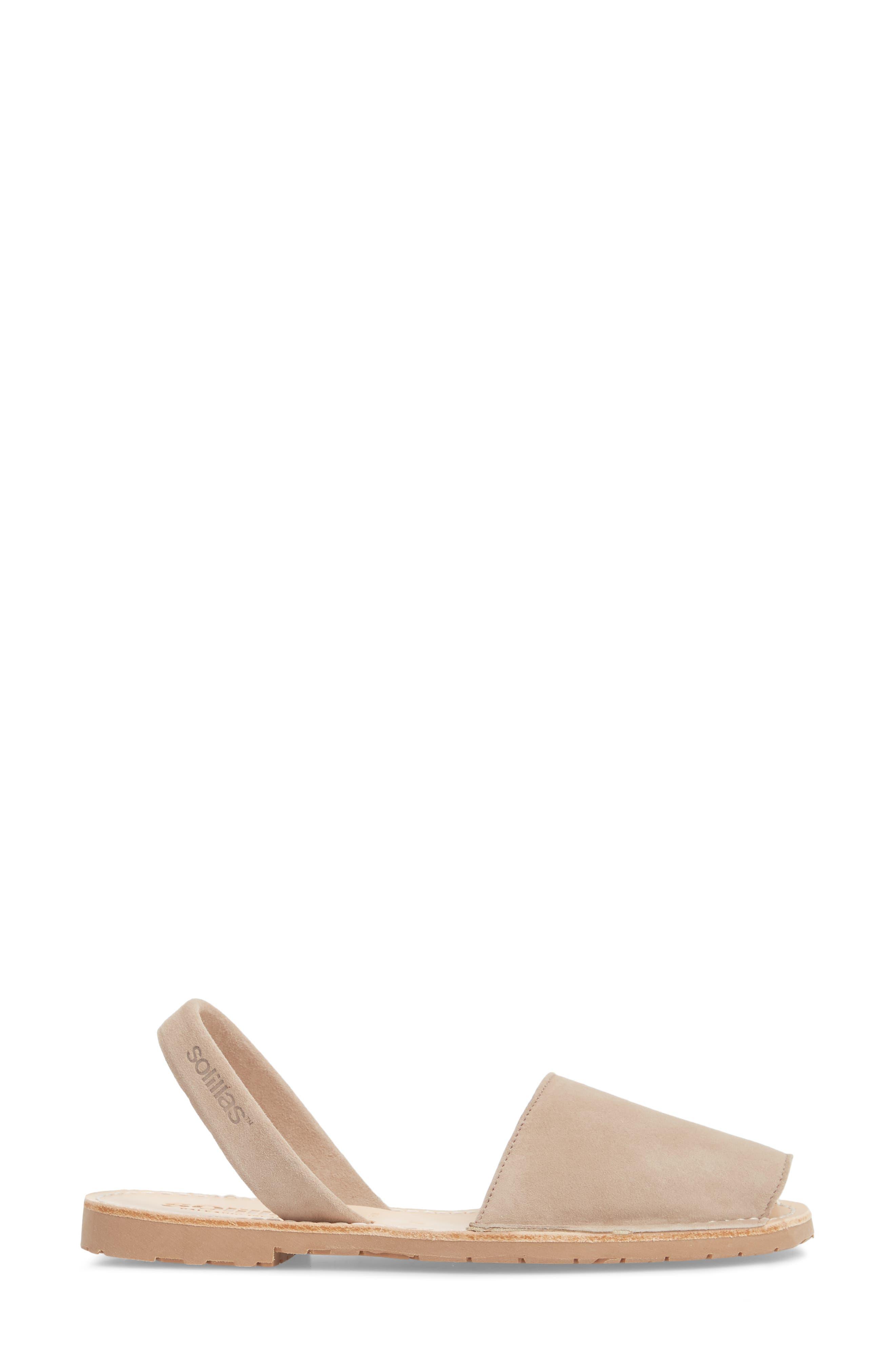 Flat Sandal,                             Alternate thumbnail 3, color,                             TAUPE