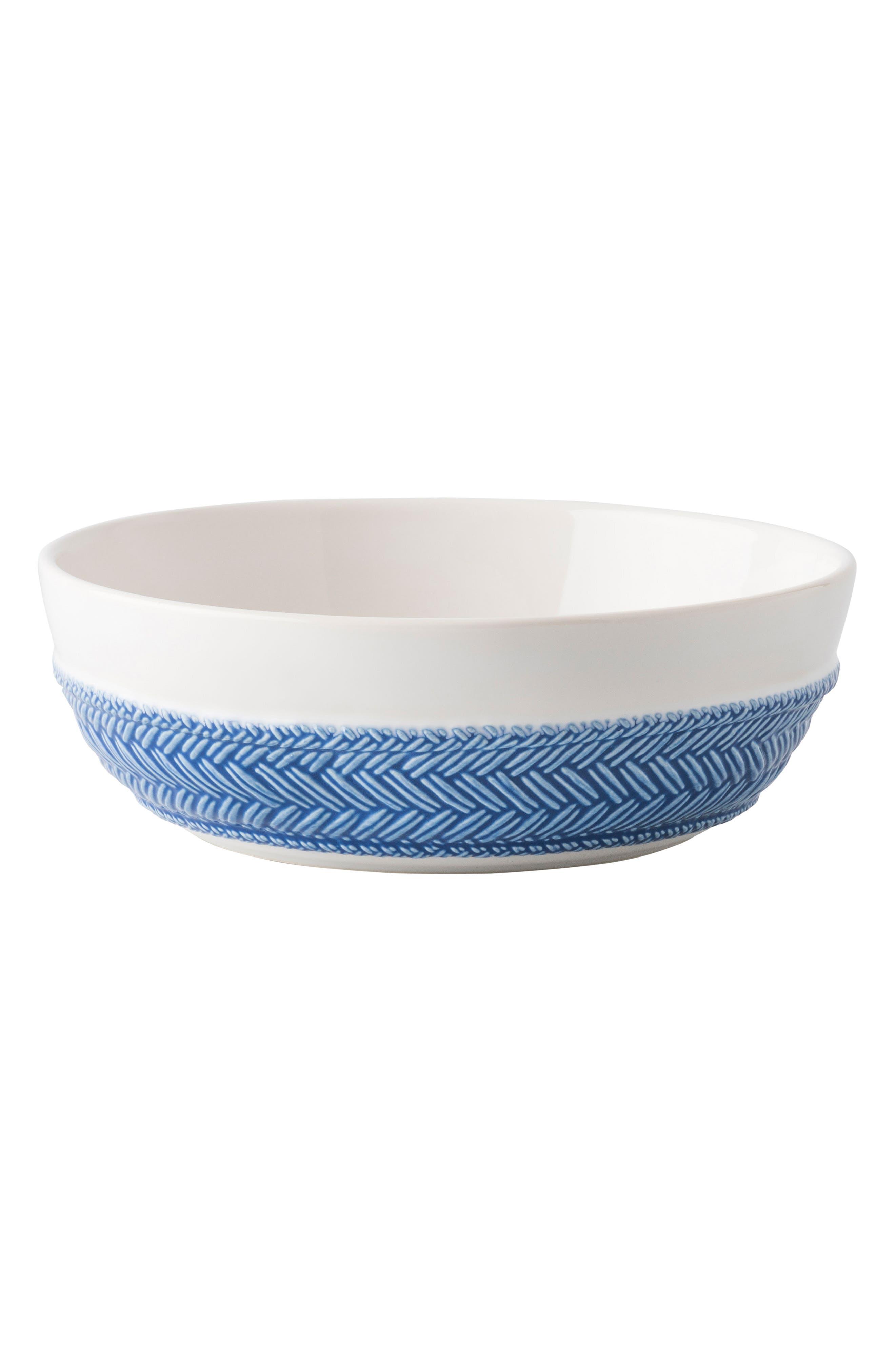 Le Panier Coupe Bowl,                             Main thumbnail 1, color,                             WHITEWASH/ DELFT BLUE