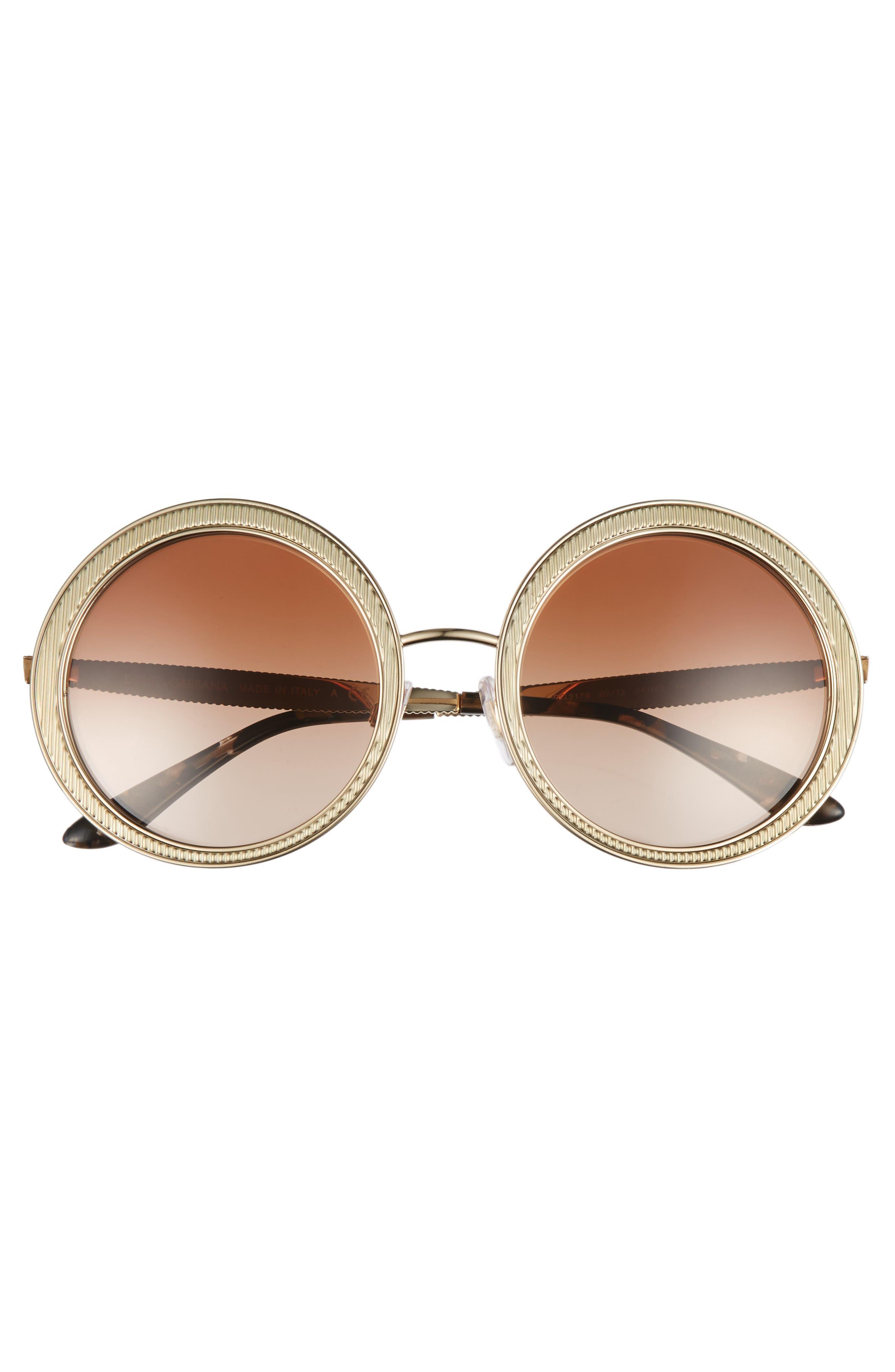 54mm Gradient Round Sunglasses,                             Alternate thumbnail 7, color,