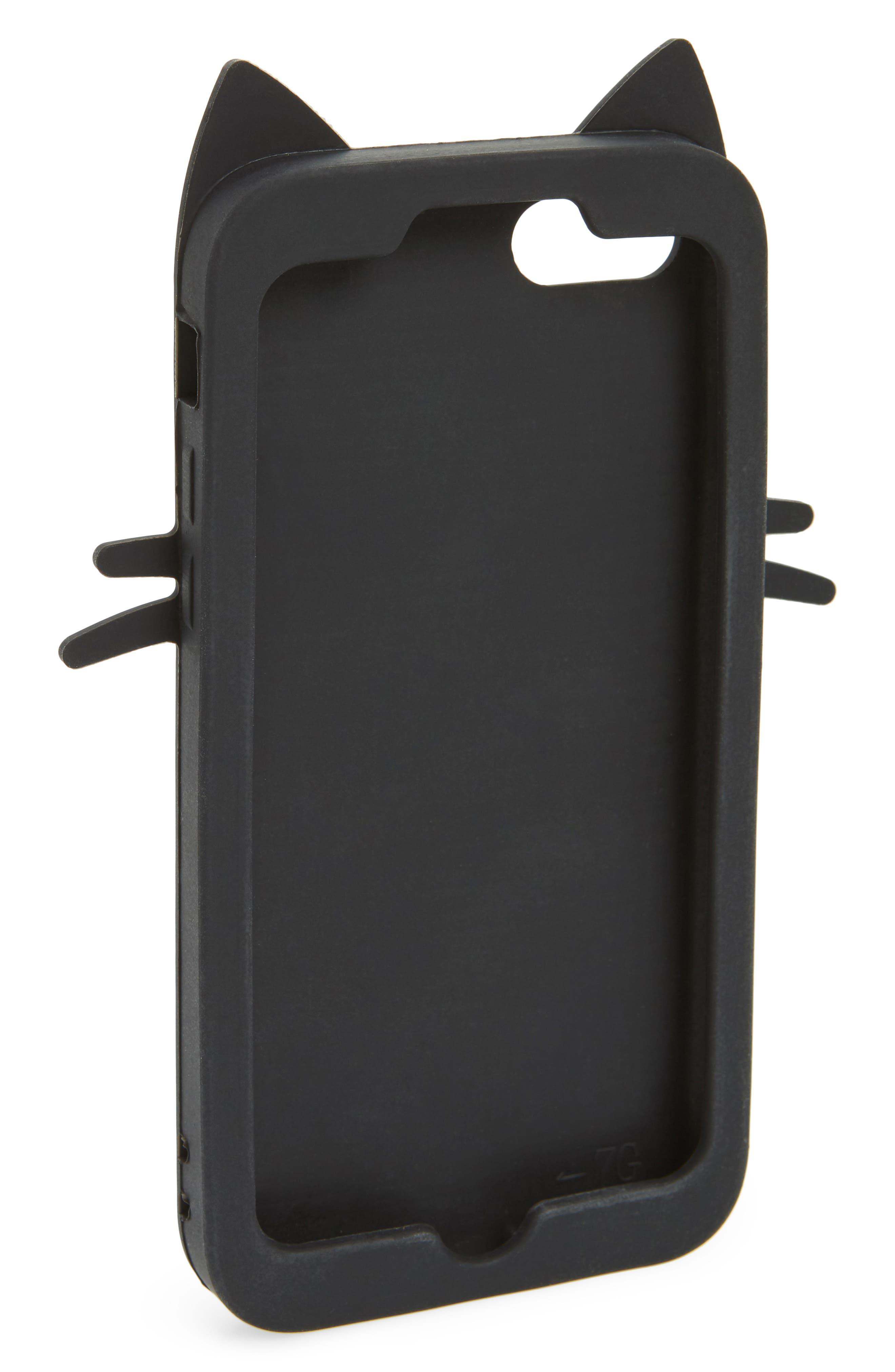 Stripe Cat iPhone 7/8 Case,                             Alternate thumbnail 2, color,