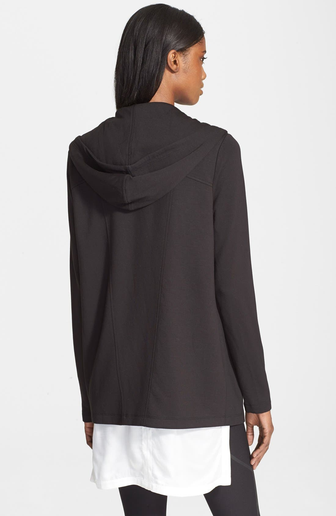 Layered High/Low Silk Top,                             Alternate thumbnail 3, color,                             100