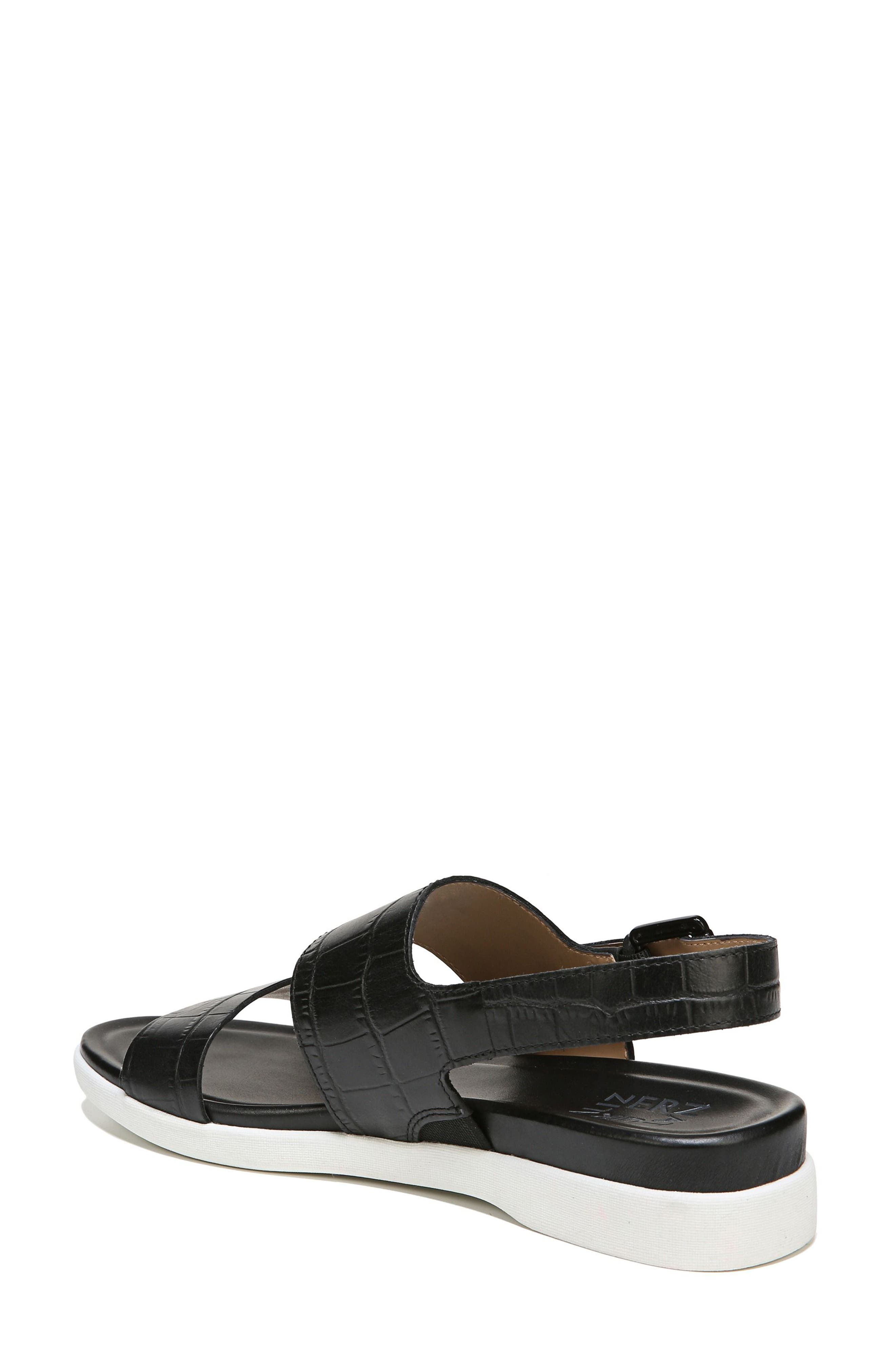 Emory Wedge Sandal,                             Alternate thumbnail 7, color,                             BLACK PRINTED LEATHER