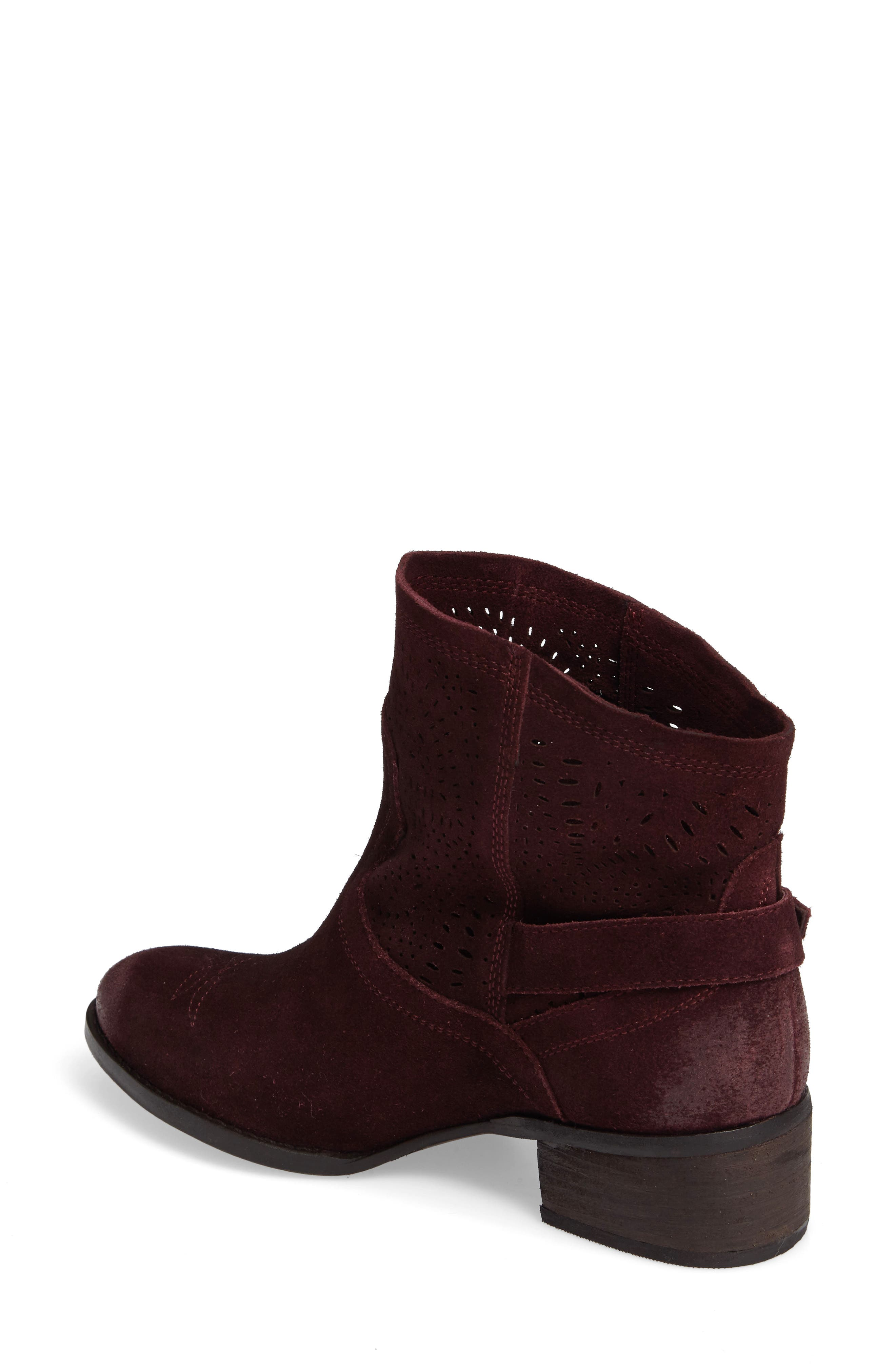 Zoey Perforated Bootie,                             Alternate thumbnail 8, color,
