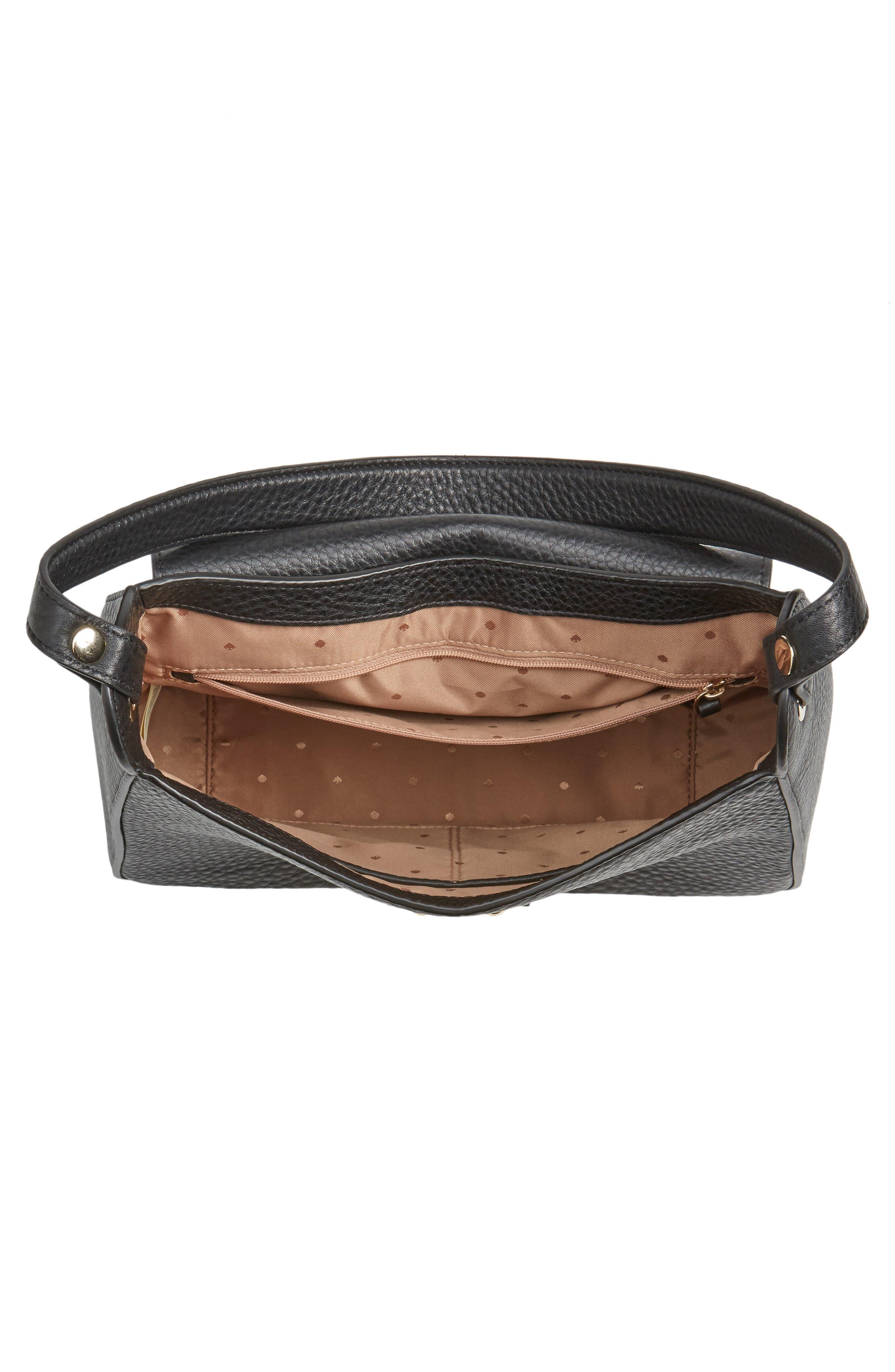 stewart street lynea leather satchel,                             Alternate thumbnail 4, color,                             001