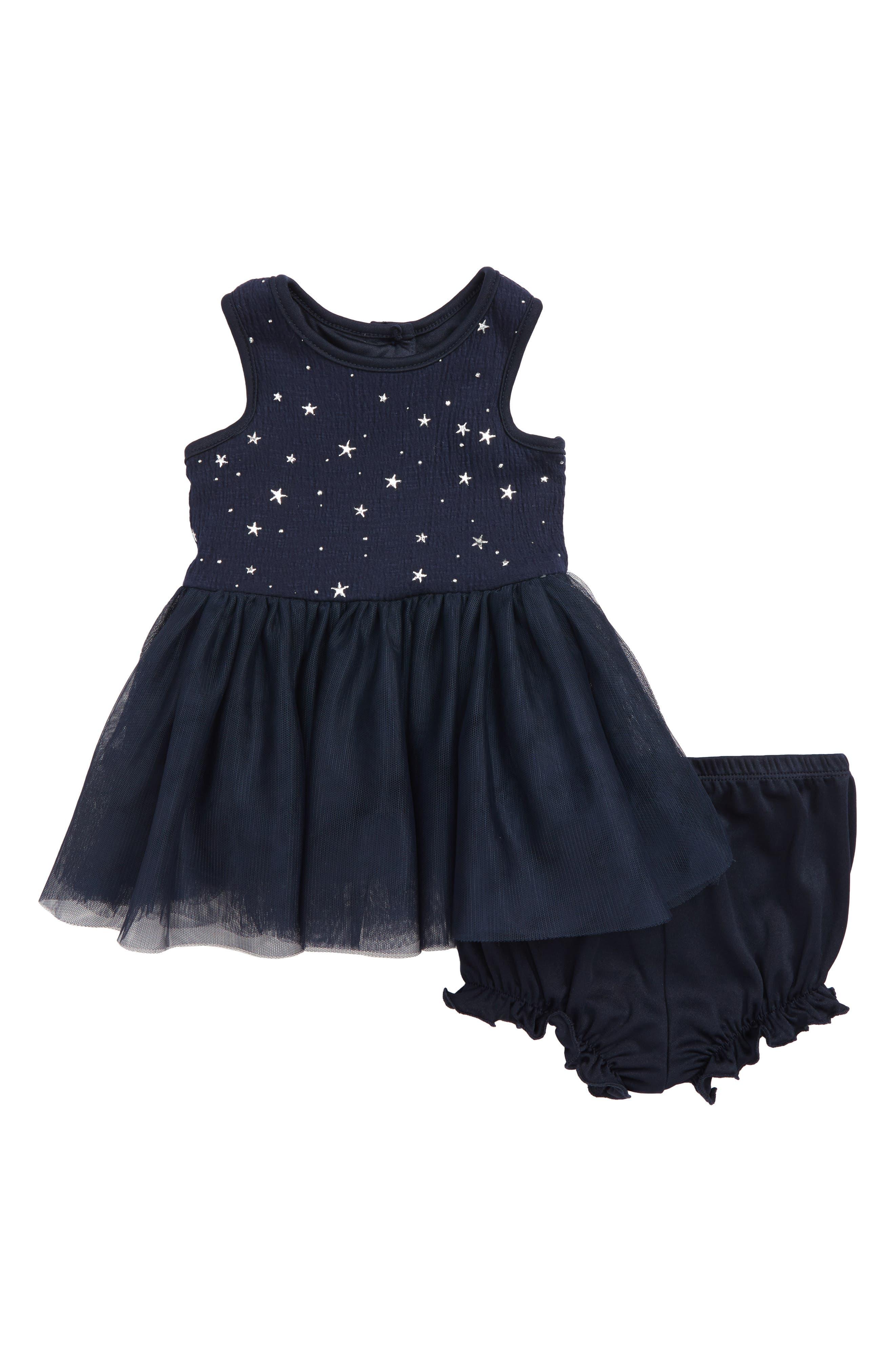 Stars Tutu Dress,                         Main,                         color, NAVY