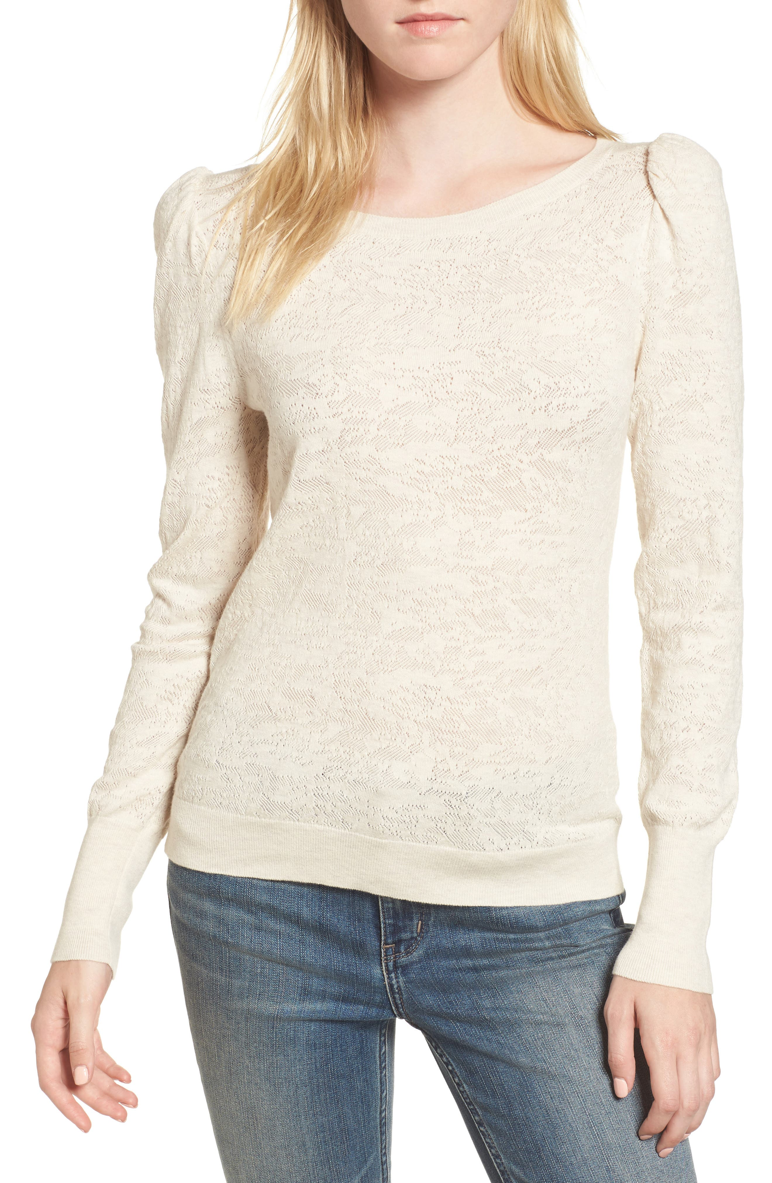 Puff Sleeve Pullover,                             Main thumbnail 1, color,                             250