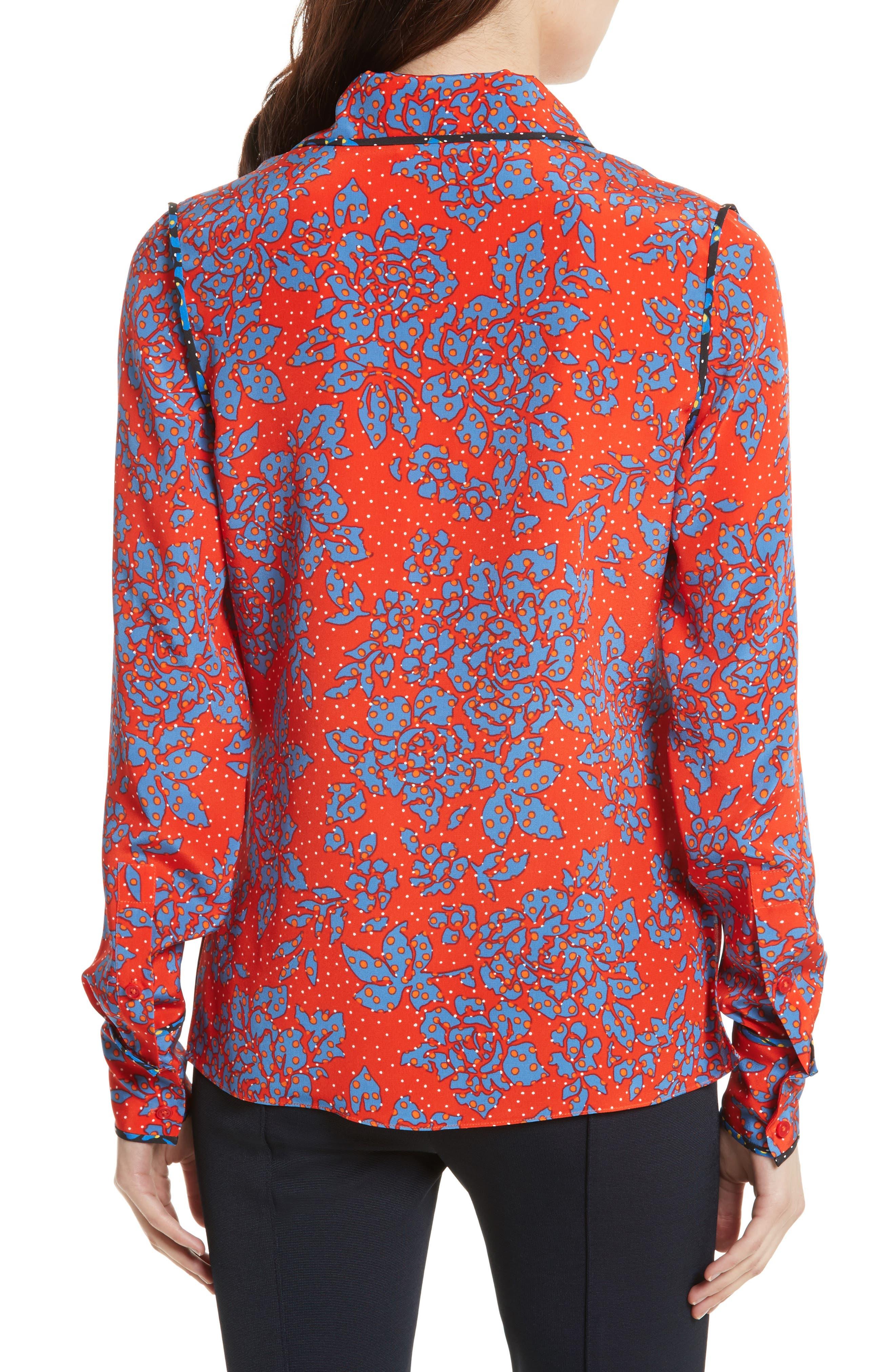 Print Silk Shirt,                             Alternate thumbnail 2, color,                             624