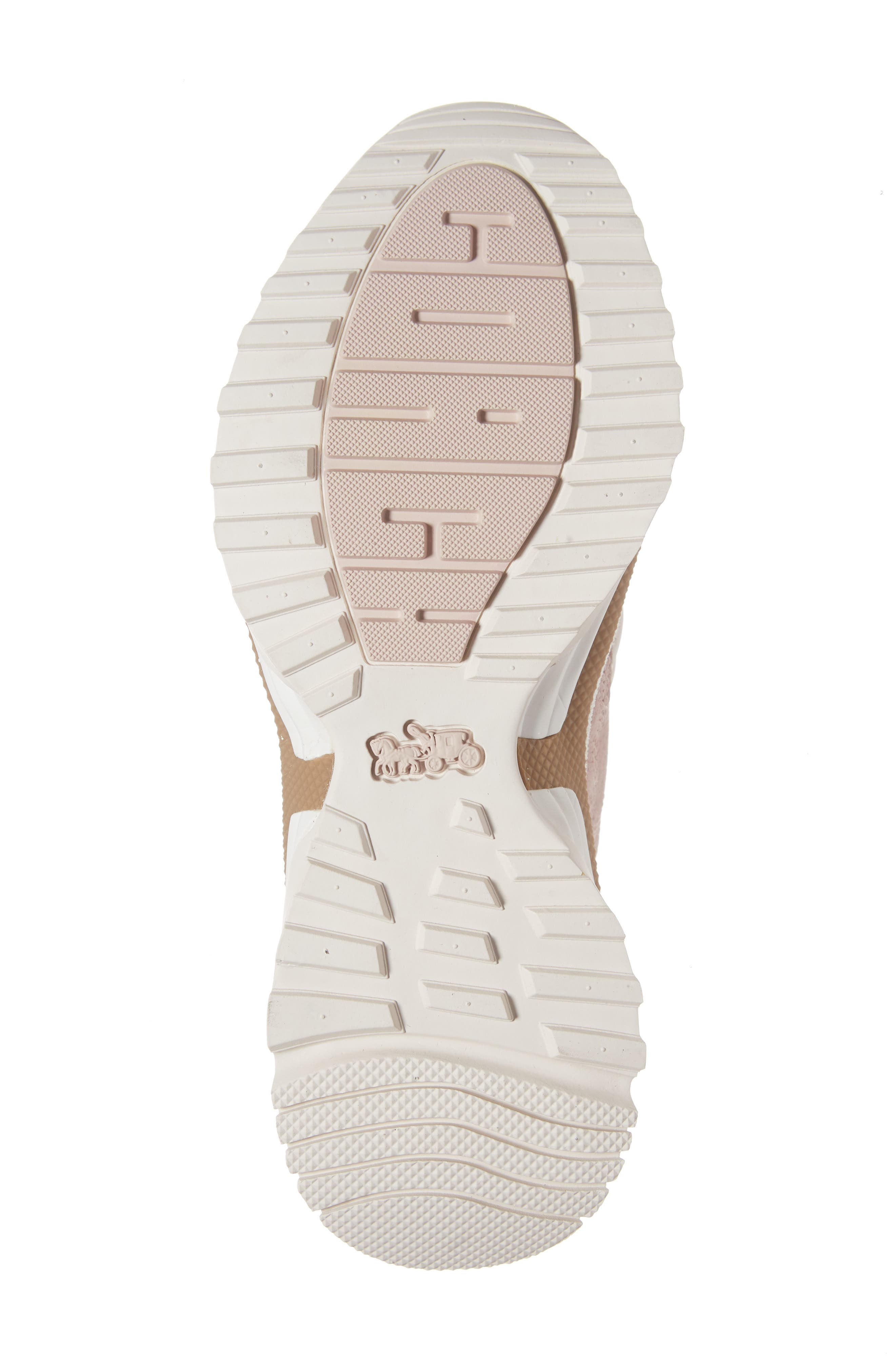COACH,                             High Top Sneaker,                             Alternate thumbnail 6, color,                             BLUSH PINK NUBUCK LEATHER