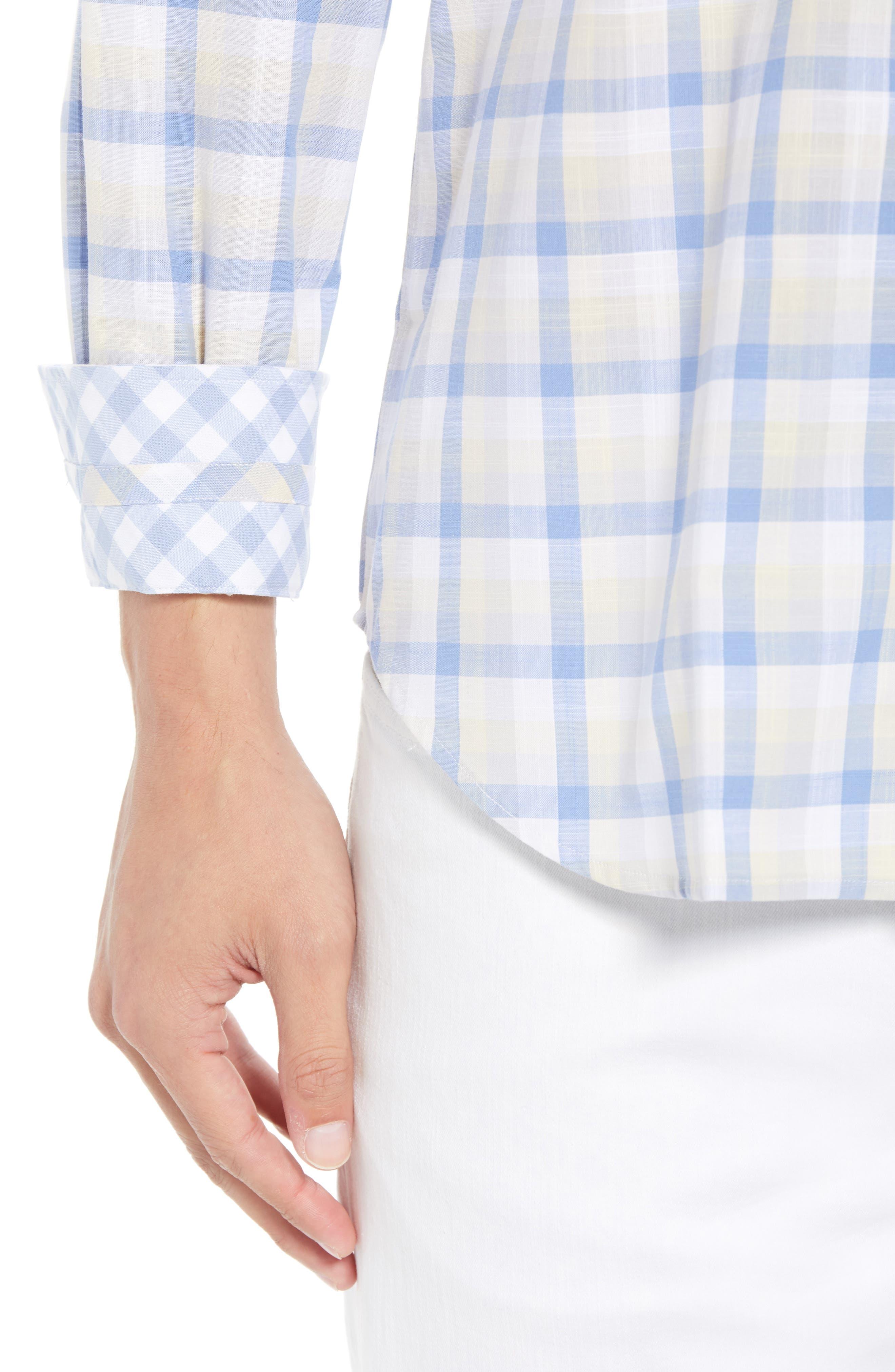 Hobbes Regular Fit Check Sport Shirt,                             Alternate thumbnail 4, color,                             450
