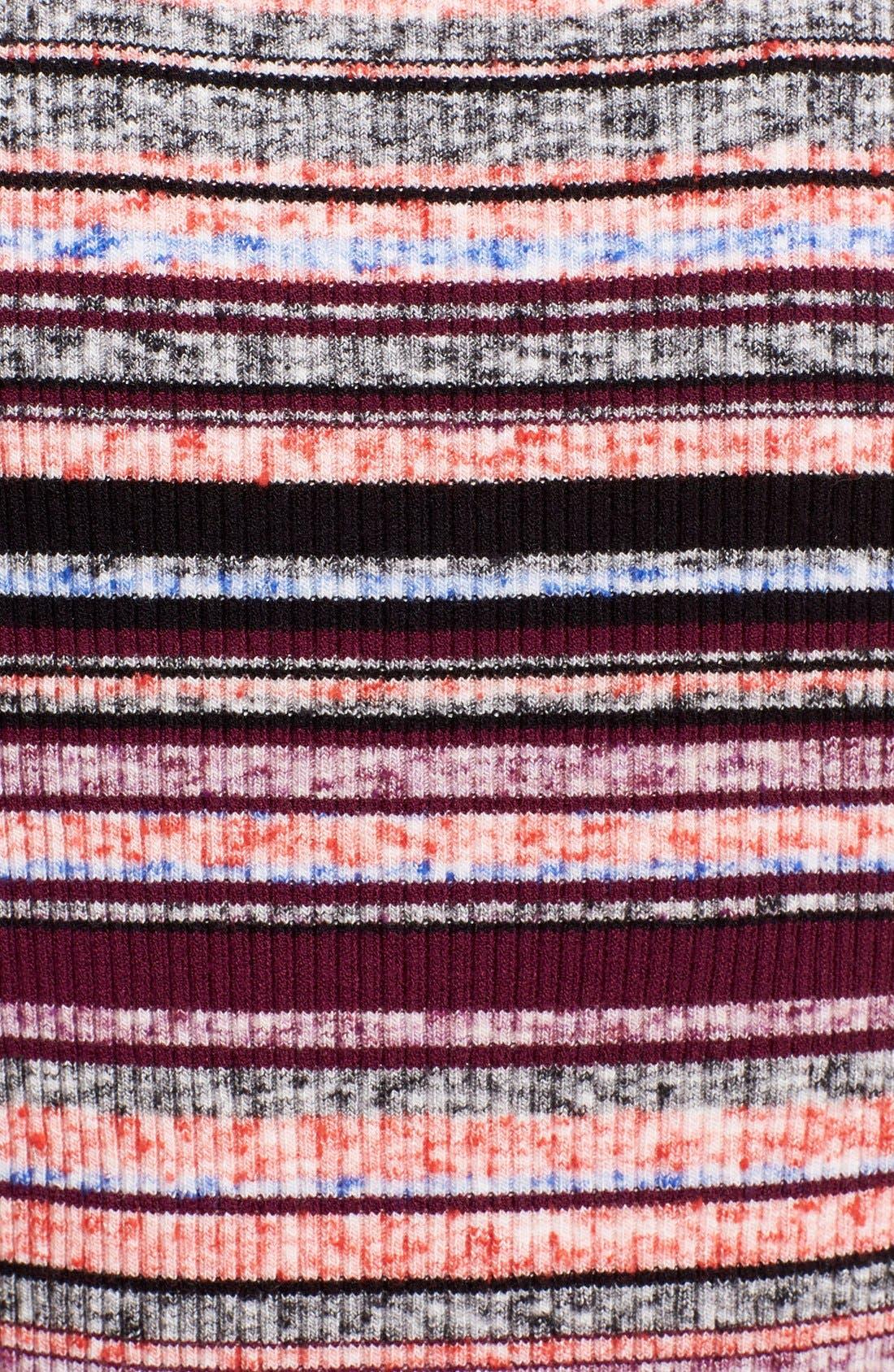 'Ash' Stripe Sleeveless Ribbed Top,                             Alternate thumbnail 3, color,                             930